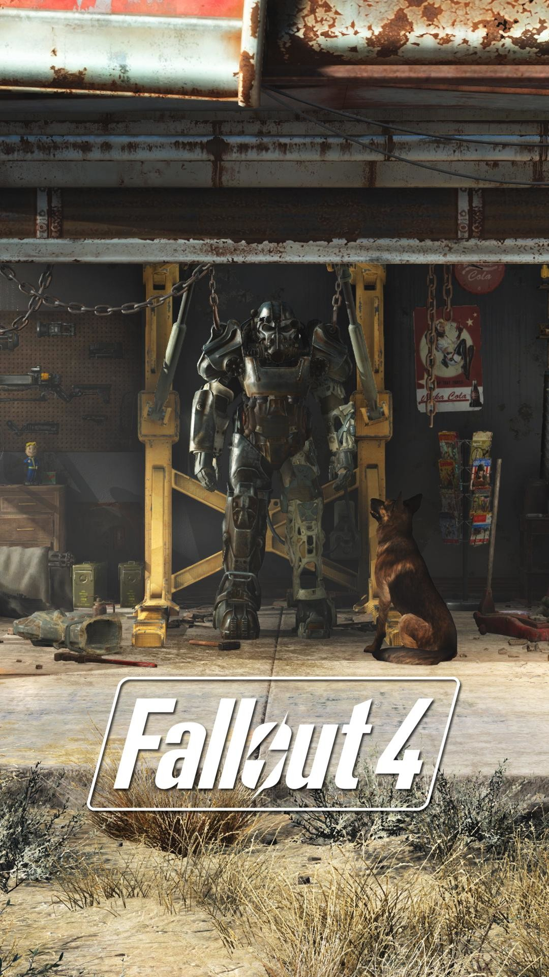 I made some Fallout 4 lock screen wallpapers from stills