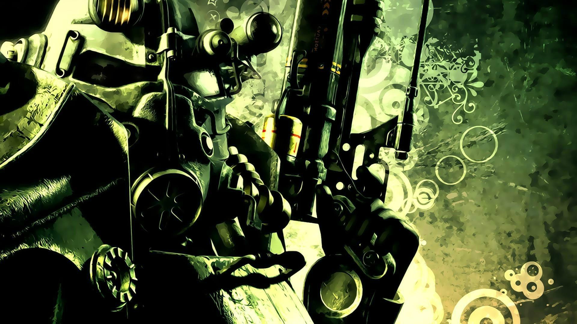 digital Art, Fallout, Gun, Power Armor Wallpapers HD / Desktop and Mobile  Backgrounds