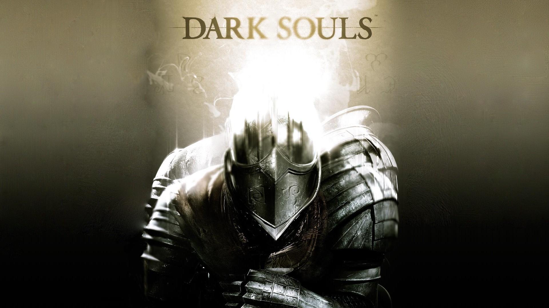 Preview wallpaper dark souls, armor, light, helmet 1920×1080
