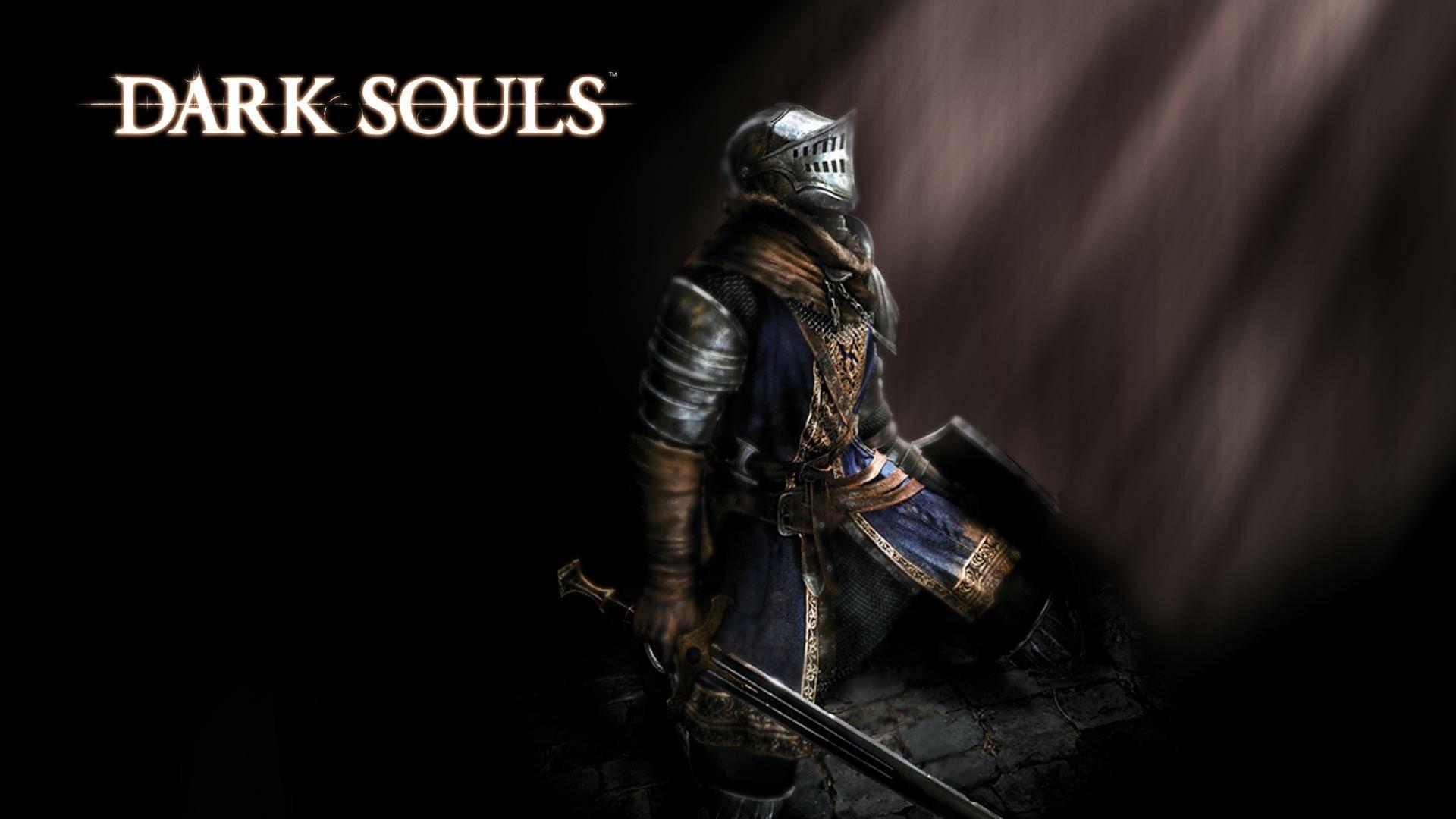 Wallpaper dark souls, knight, sword, light, look