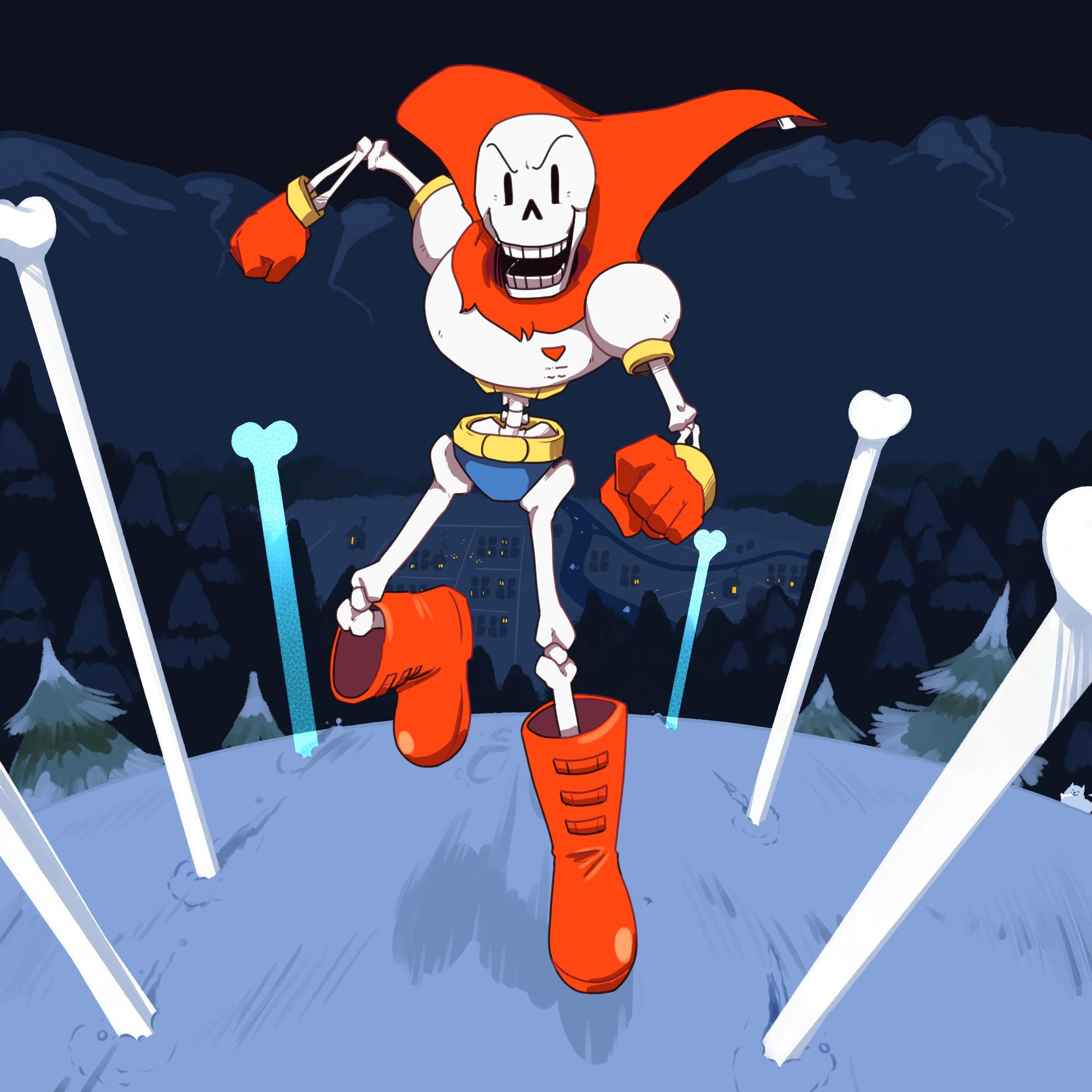 UNDERTALE-The Game fondo de pantalla probably with a casa antigua, claymore  titled Papyrus