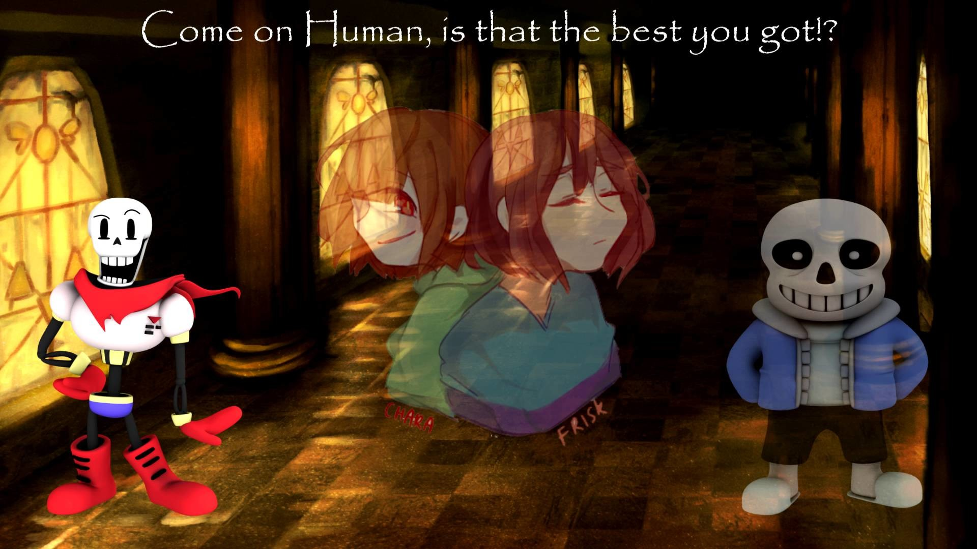 Undertale Stronger Than You Papyrus Calebhyles Sans Vs Chara