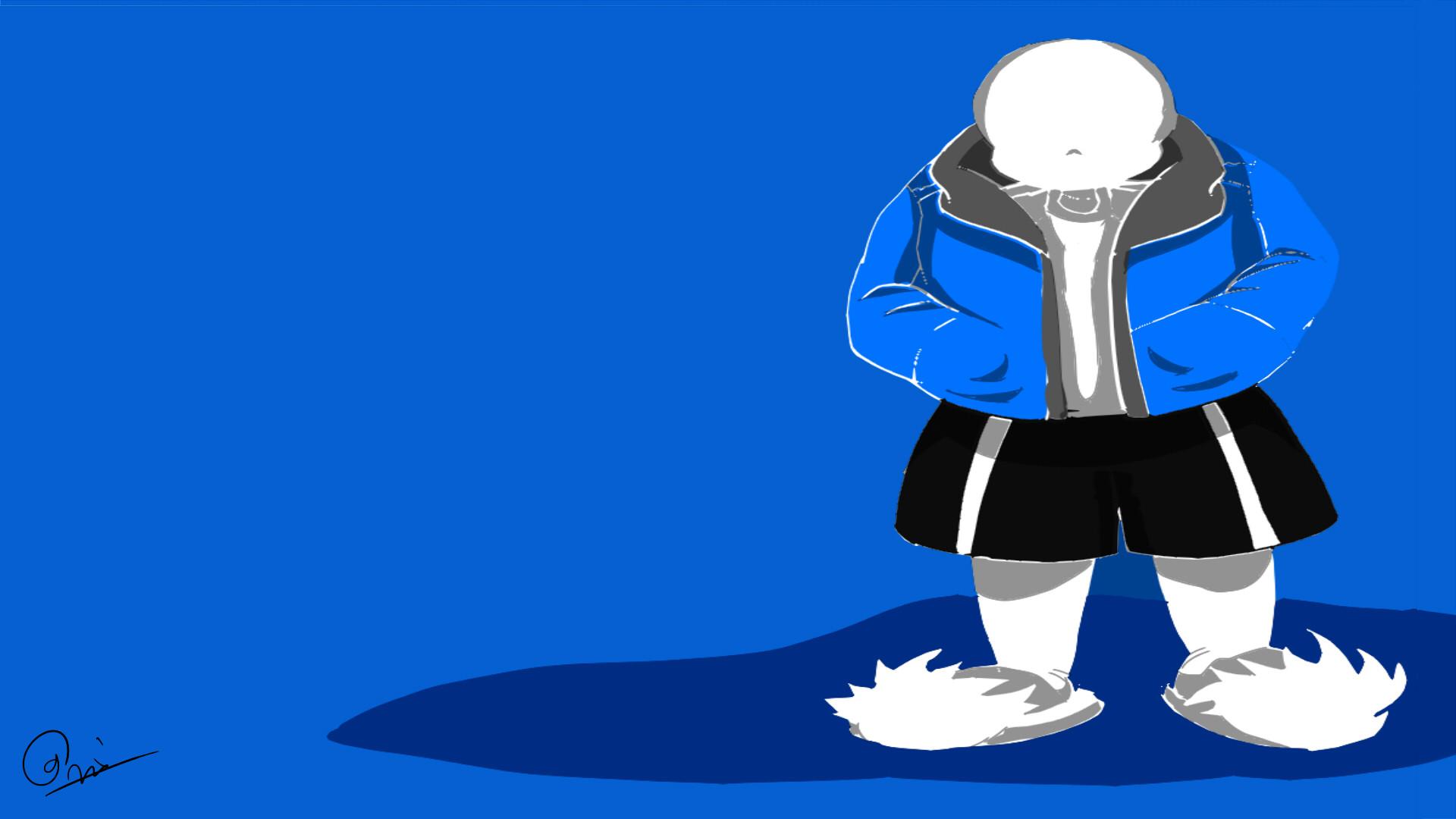 "Undertale Minimalist Sans Blue"" Travel Mugs by Mauro6   Redbubble"