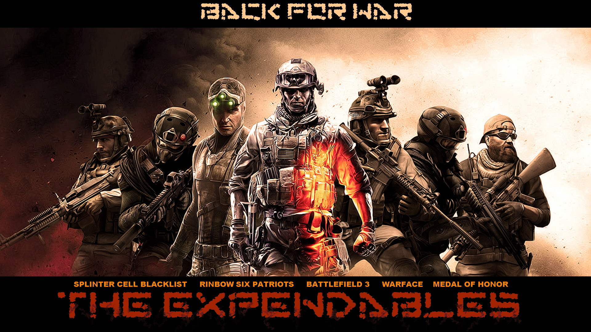 Download 'awesome hd expendables video game' HD wallpaper
