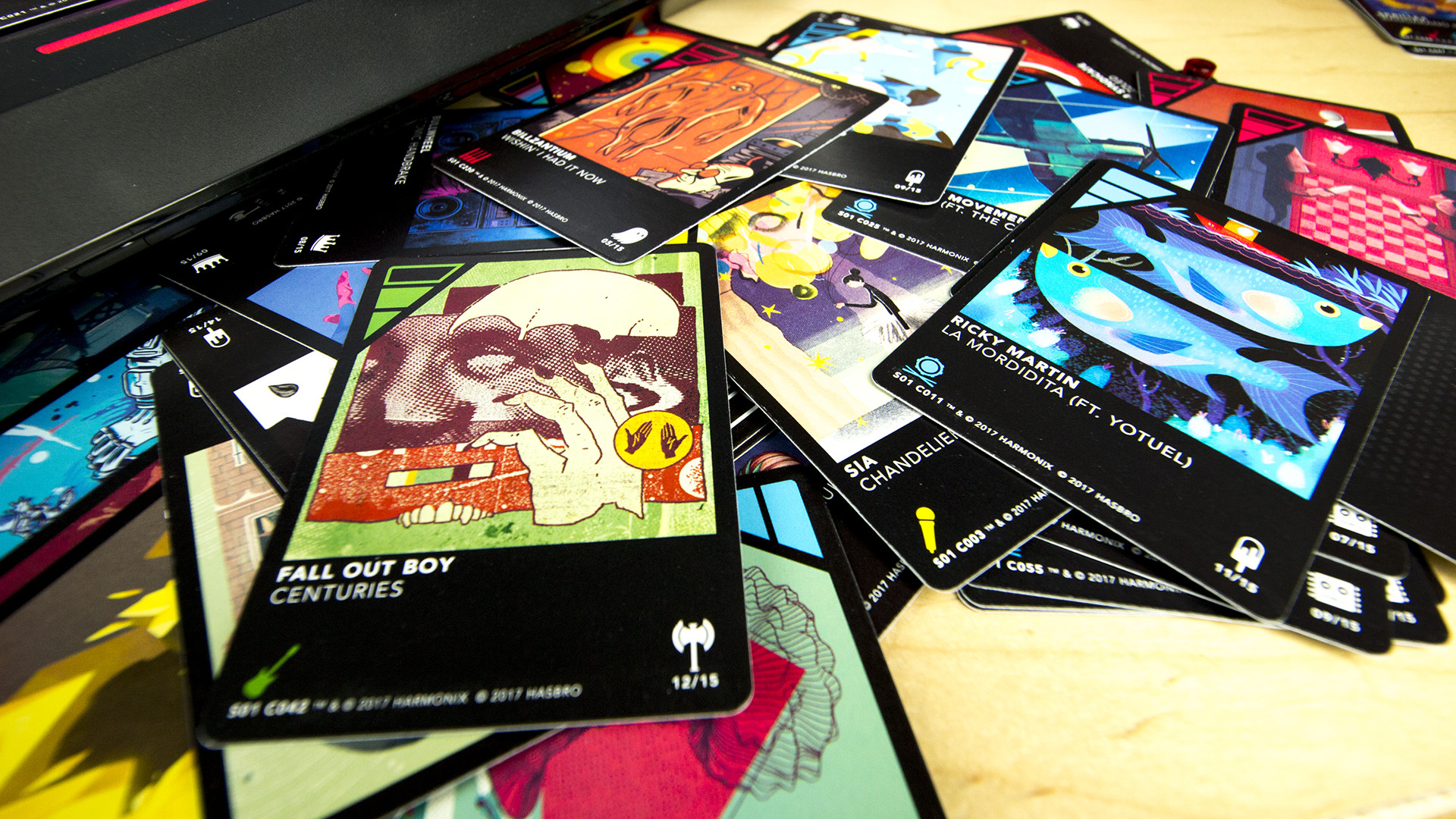 The cards are very pretty, but what they do when placed on the board during  one of Dropmix's three modes — Clash, Party or Freestyle — is beautiful.