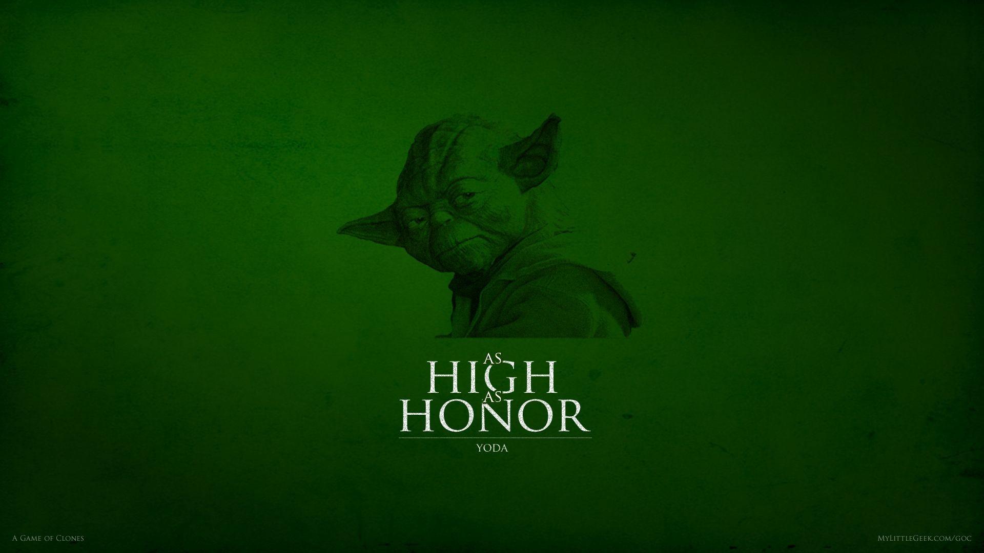 As High As Honor Yoda Wallpaper