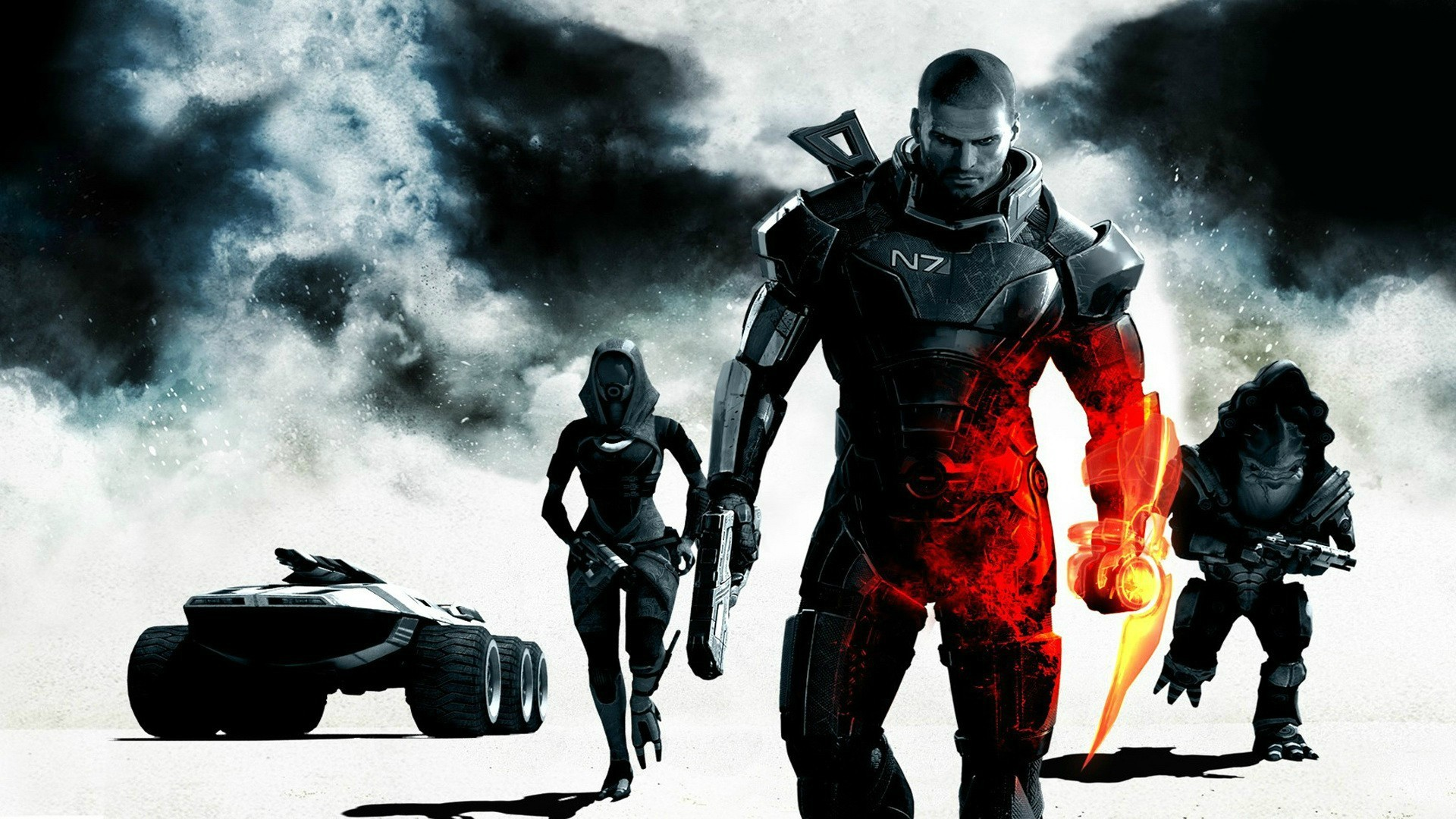 Mass Effect 3 and Battlefield 3 mashup. Two awesome games in a single  wallpaper.