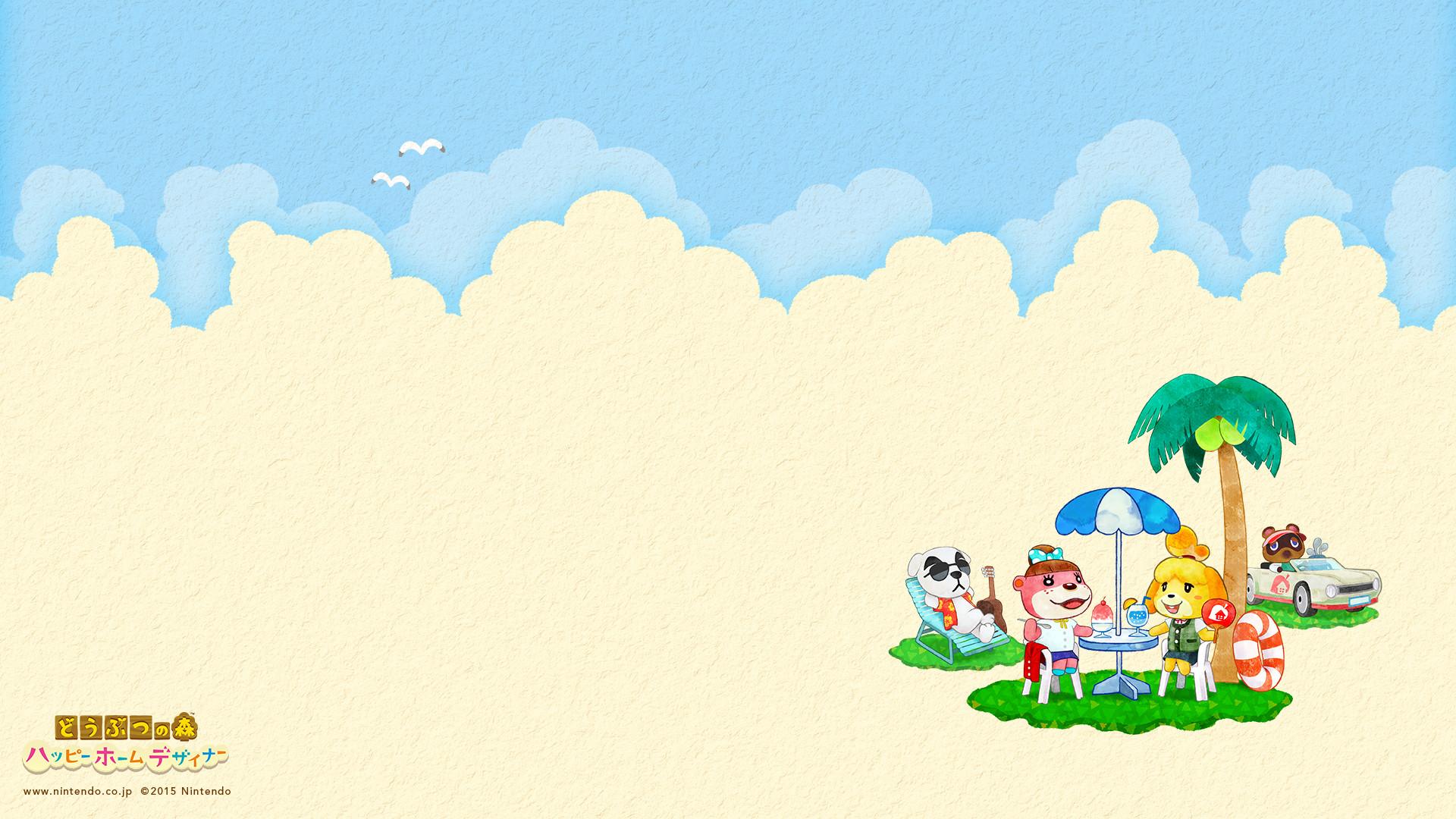 happy-home-designer-summer-desktop-wallpaper. Mobile Phone Japanese Animal  Crossing: …