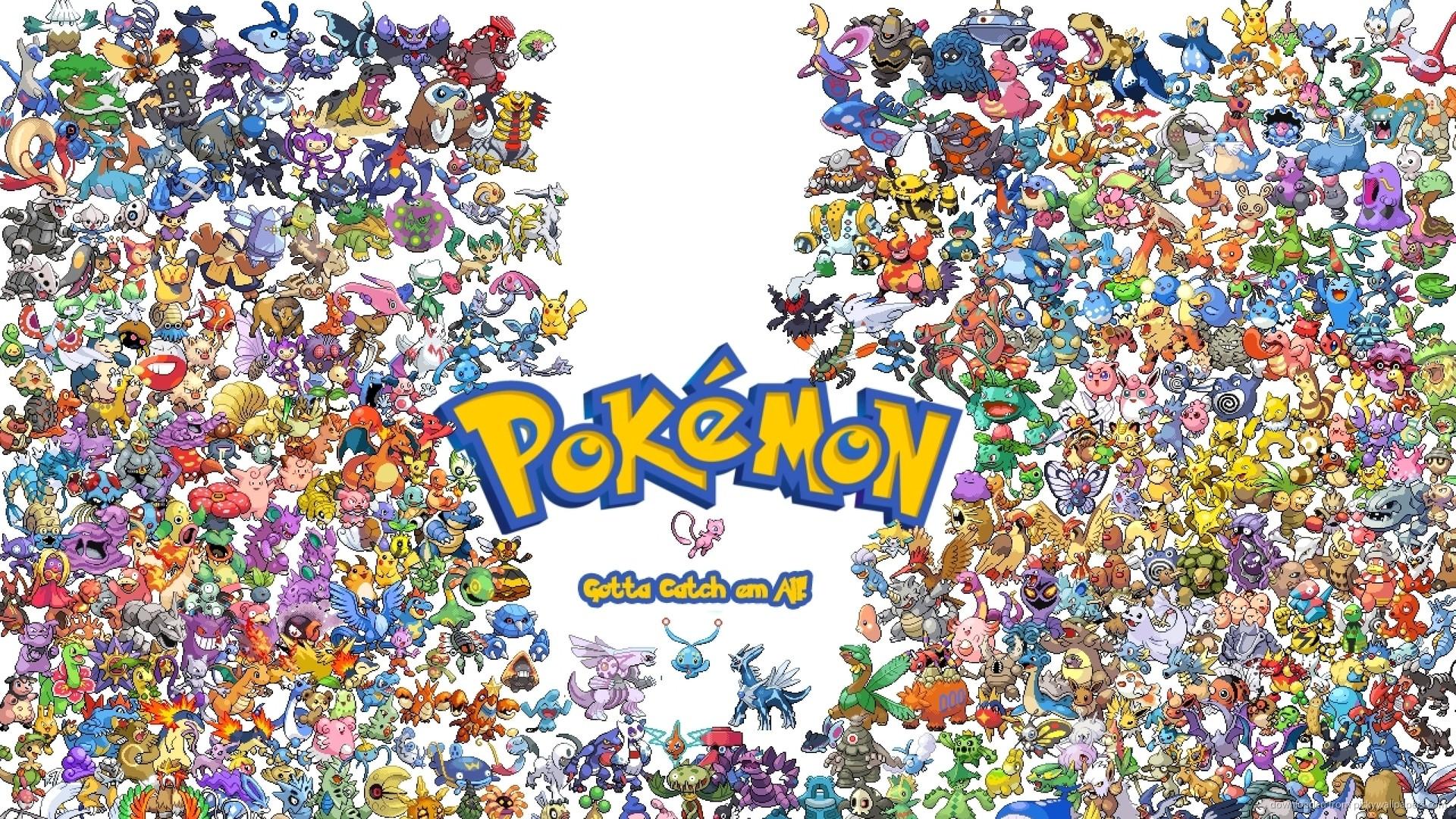 8-Bit Pokemons for 1920×1080