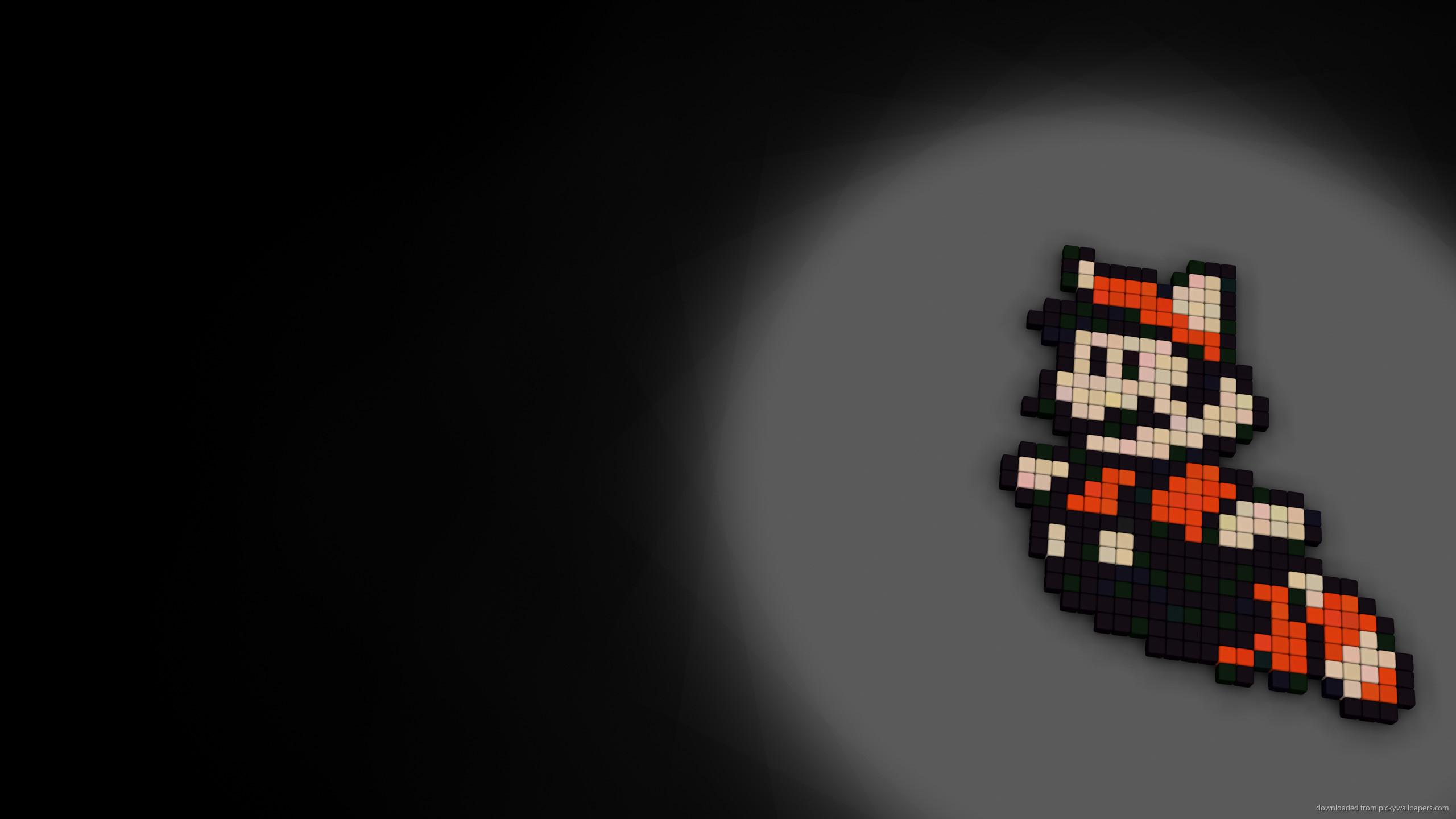 8-bit Mario for 2560×1440
