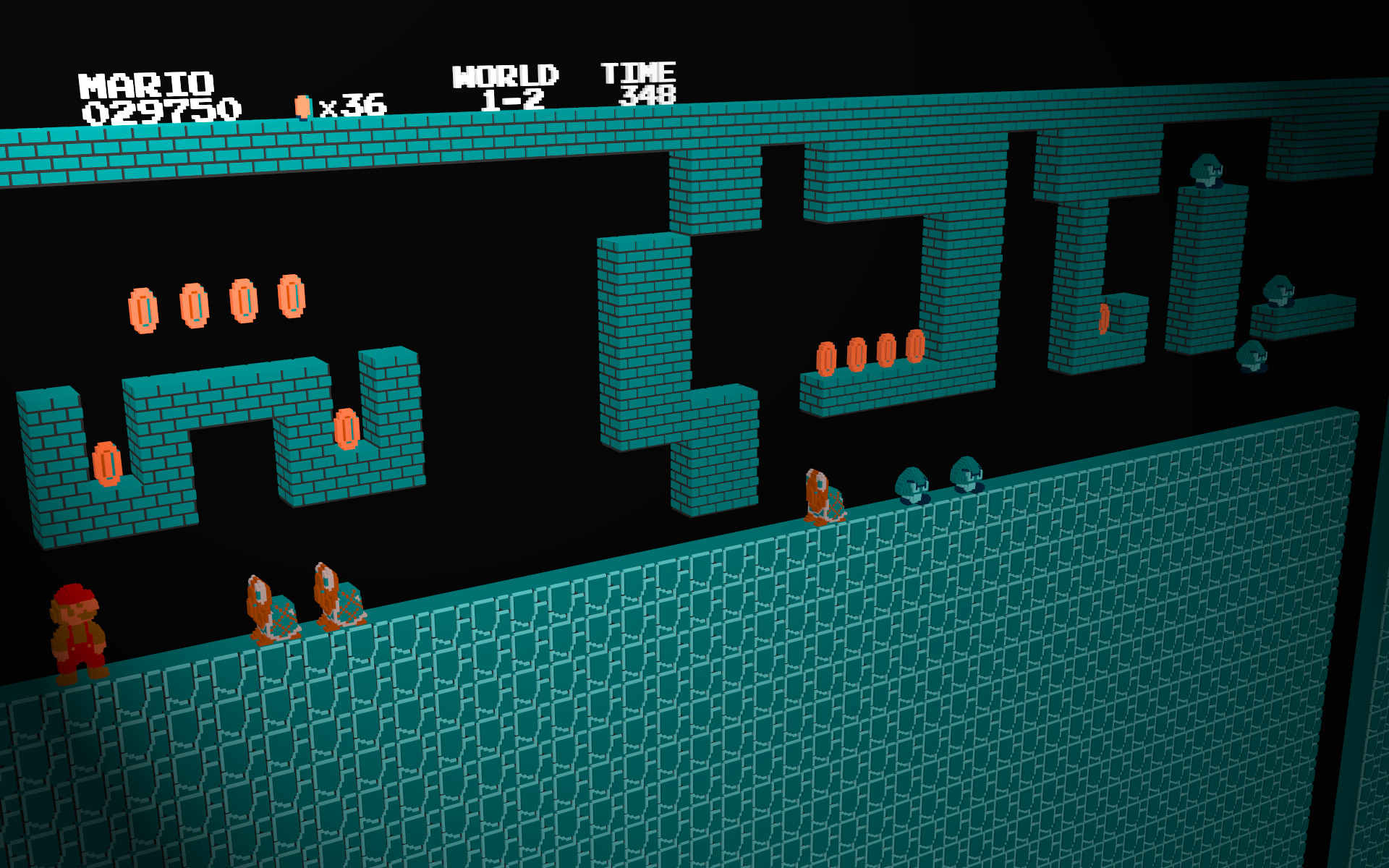 Lambda Core 3D Underground Nintendo 8-Bit Retro