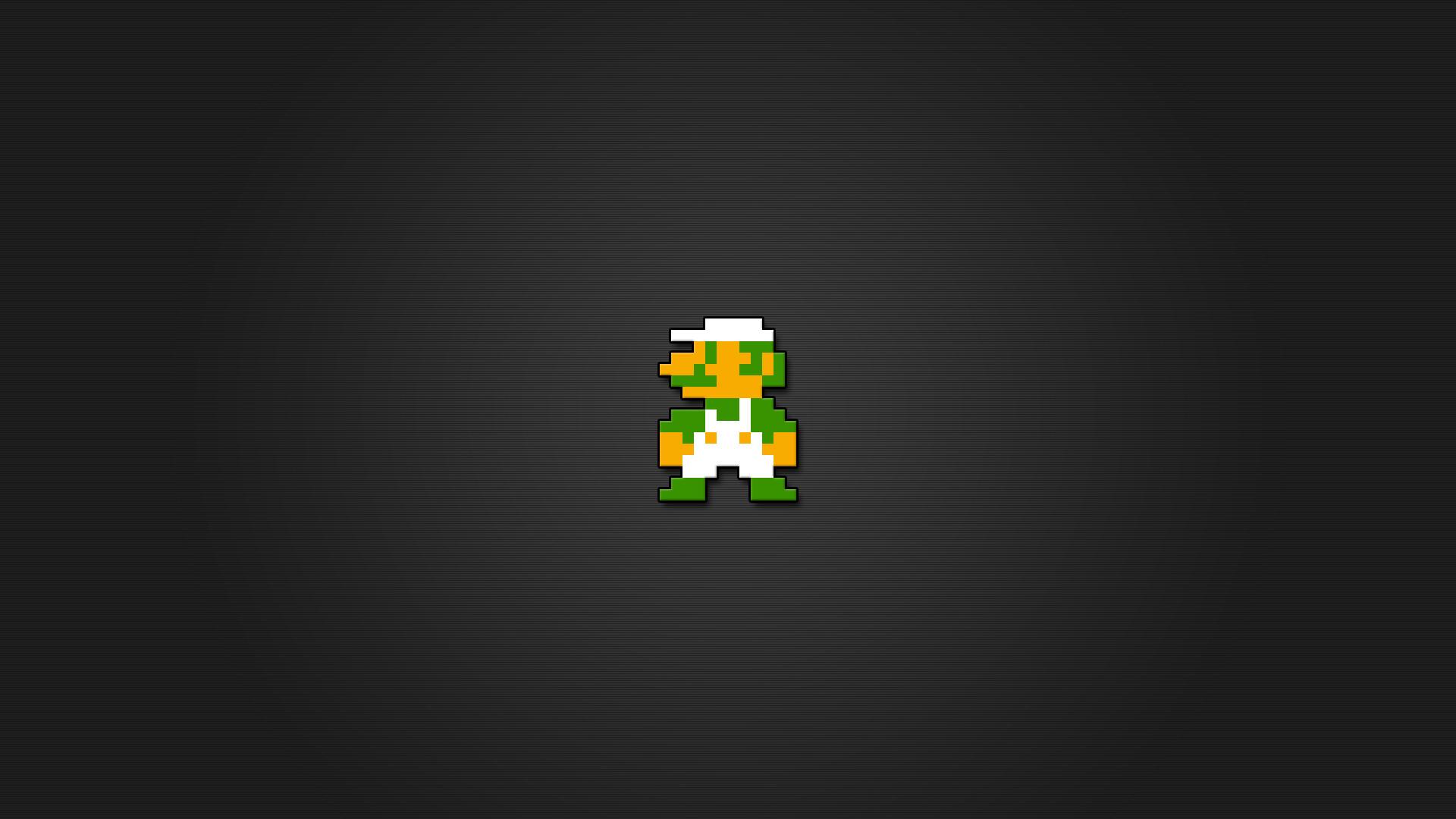 Luigi 8bit Wallpaper HD by LaChRiZ on DeviantArt