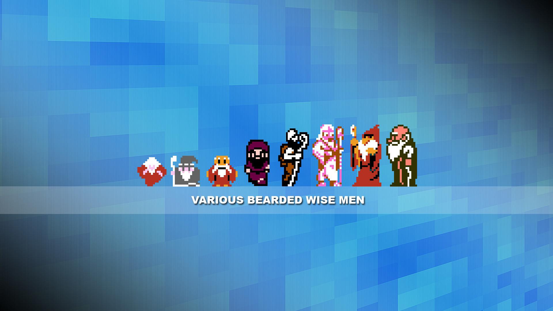 8-bit Wallpaper – Wise Men