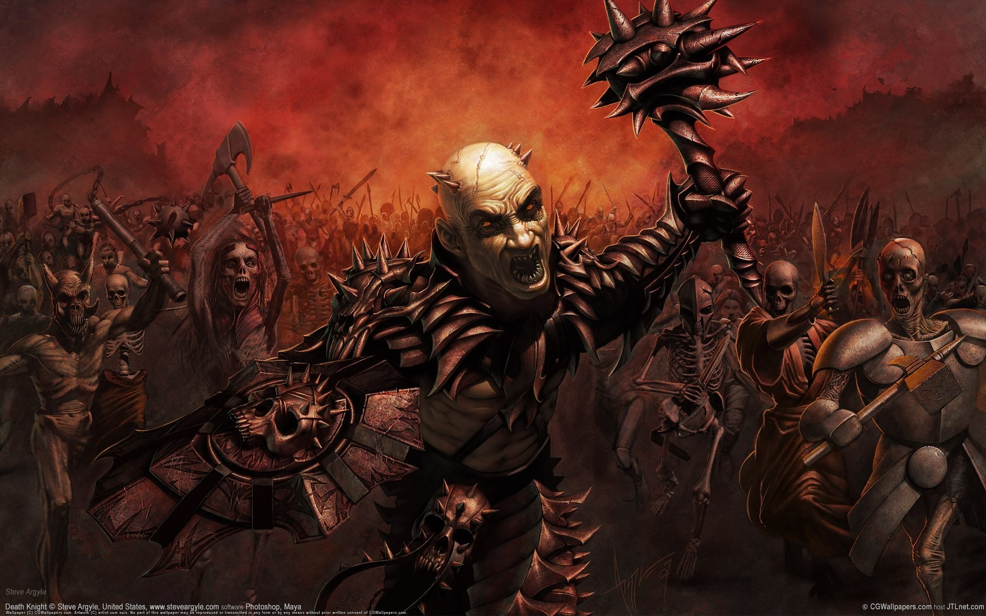 death knight the army daemons death knight steve argyle cg wallpapers