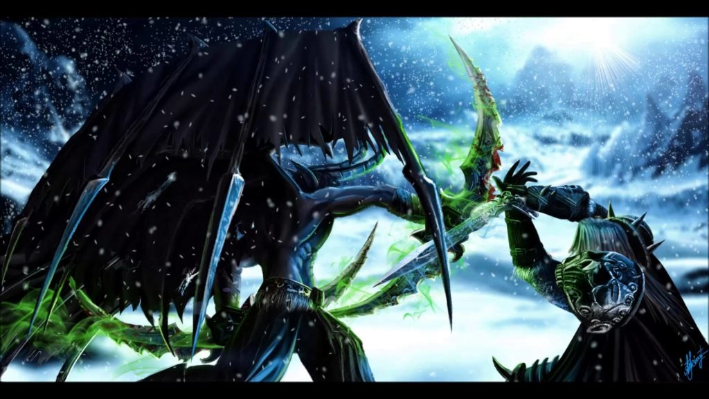 ImageQUESTION: Lorewise who is more powerful between an average Demon  Hunter and Death Knight? Arthas beat Illidan but they are both well above  average.