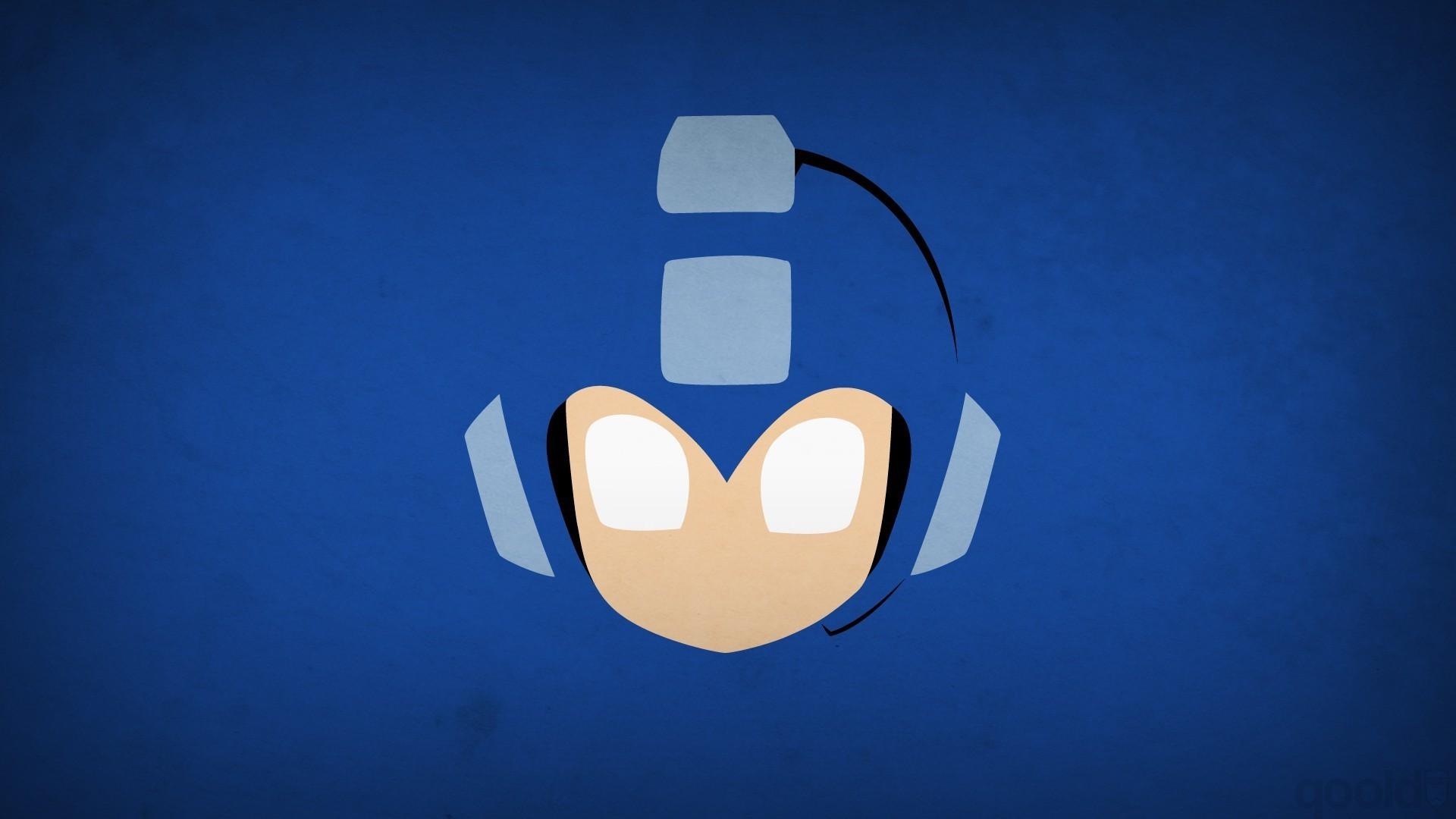 minimalism, Simple Background, Video Games, Mega Man