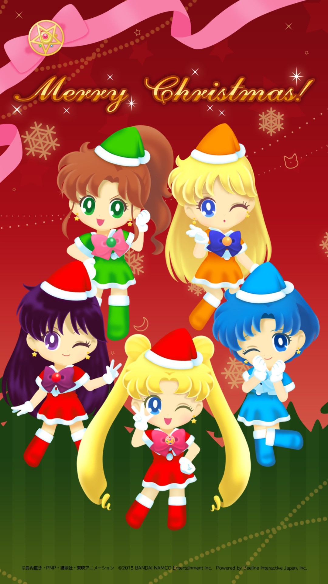 Wallpaper from Christmas event by Sailor moon drop game!