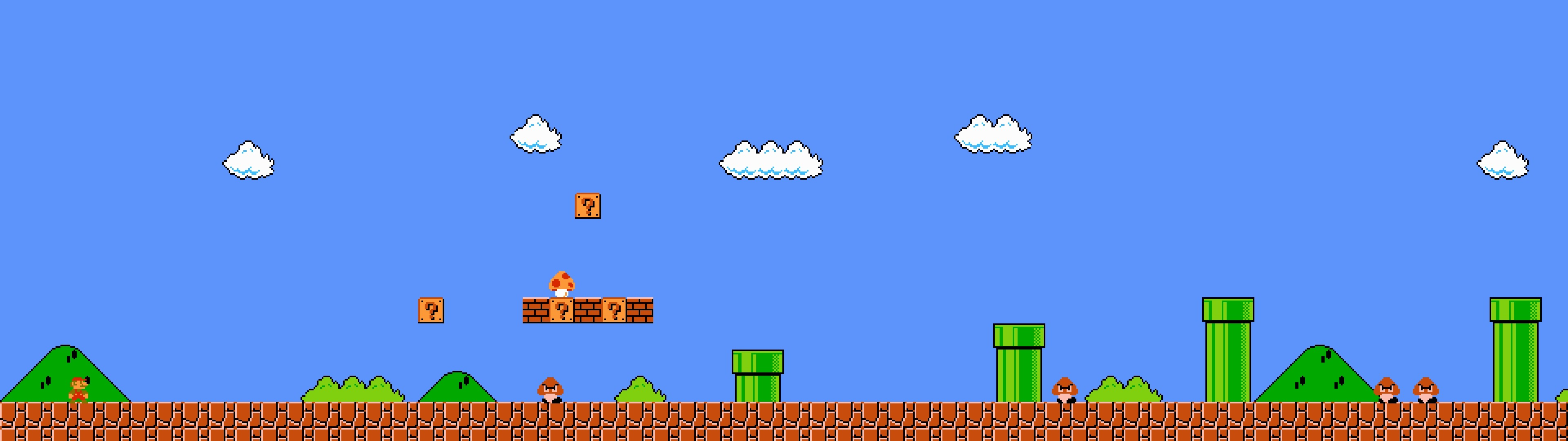 Dual-screen wallpapers, assorted retro games