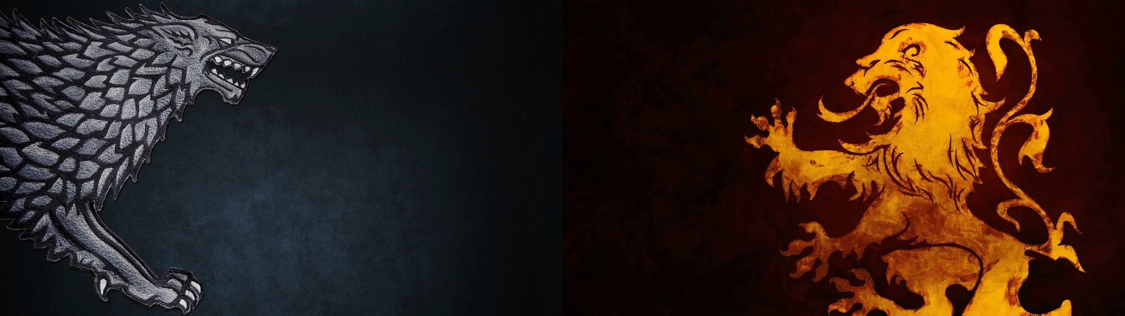 Lannister Lion Dual Screen Wallpaper