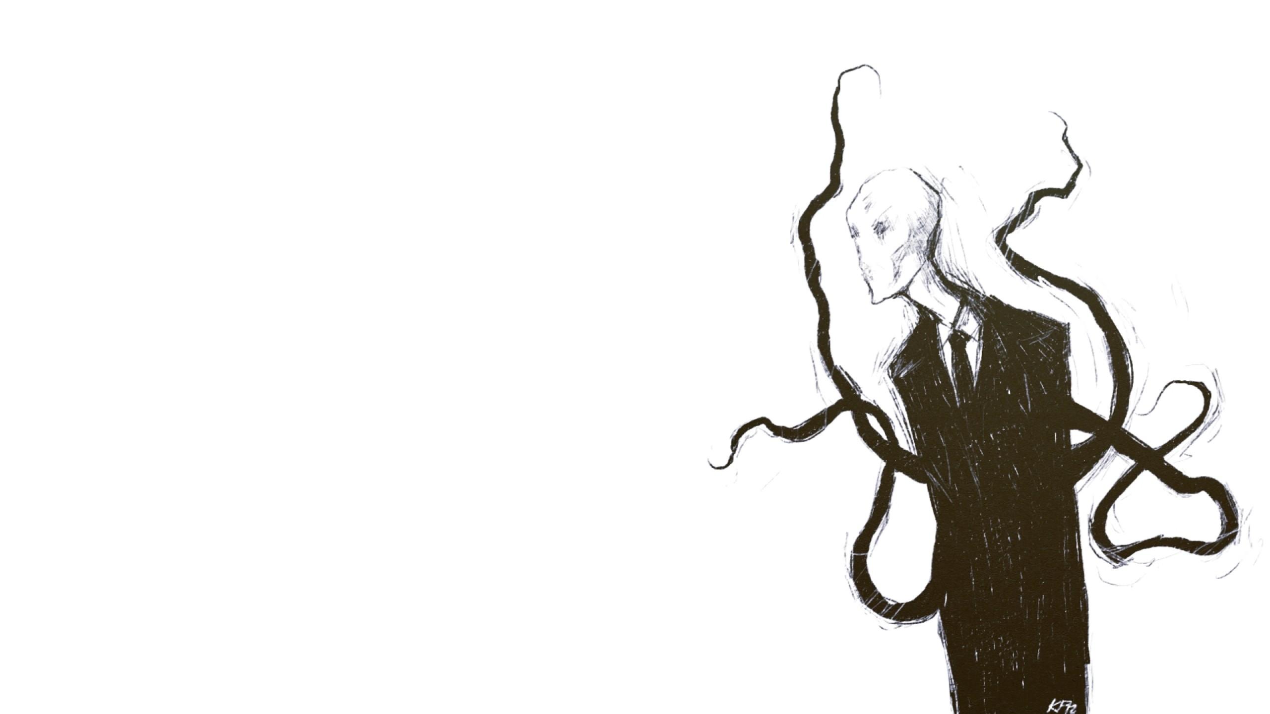 slender man simple background slenderman Wallpaper HD