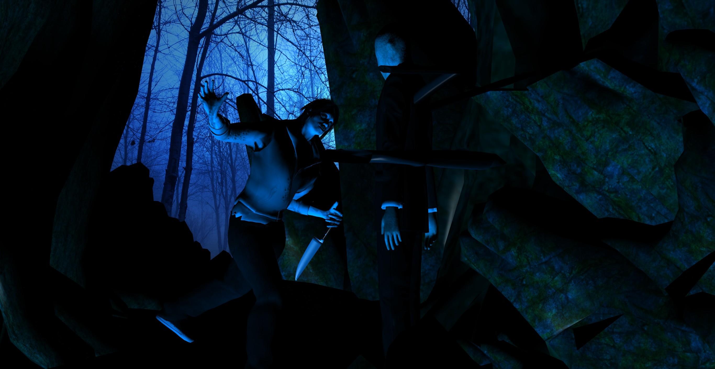 … Jeff the Killer Vs. SlenderMan by calibur222