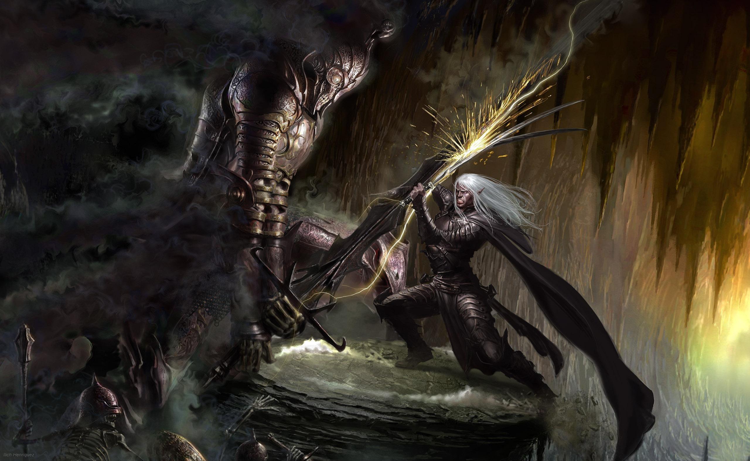 General fantasy art artwork Drizzt Do'Urden Dungeons & Dragons