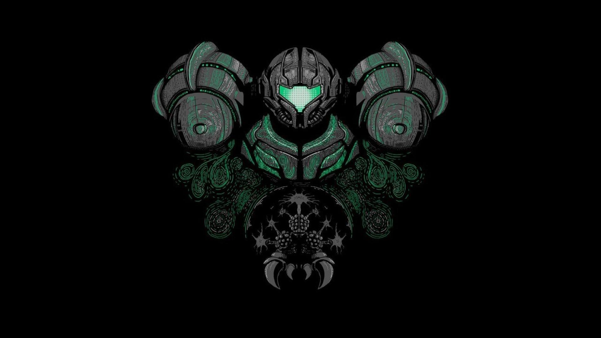Metroid stylized wallpaper   (63674)