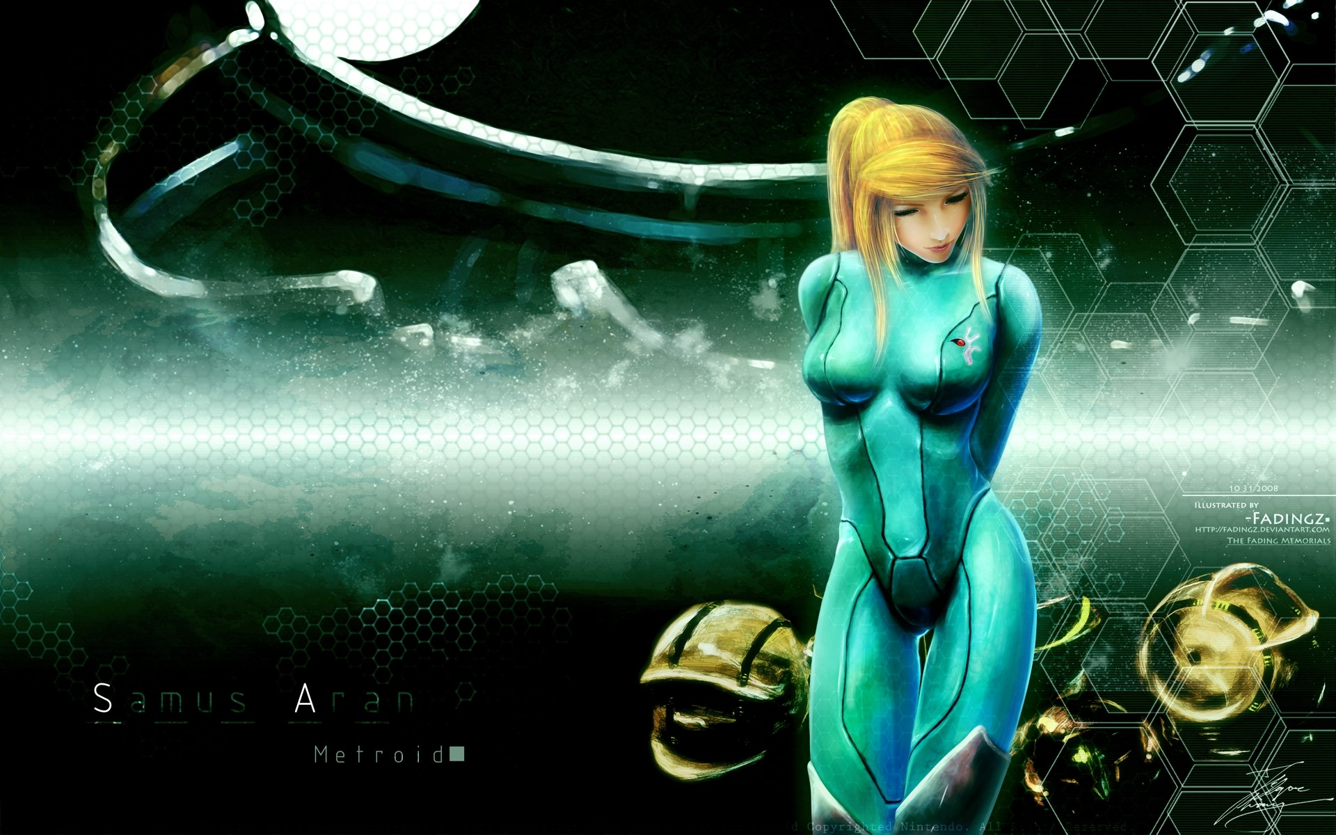 Tags: Anime, Fadingz, Metroid, Samus Aran, Zero Suit Samus, Honeycomb