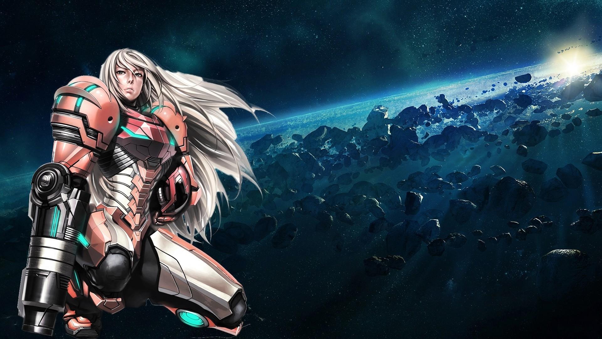 Wallpaper samus aran, metroid, girl, armor