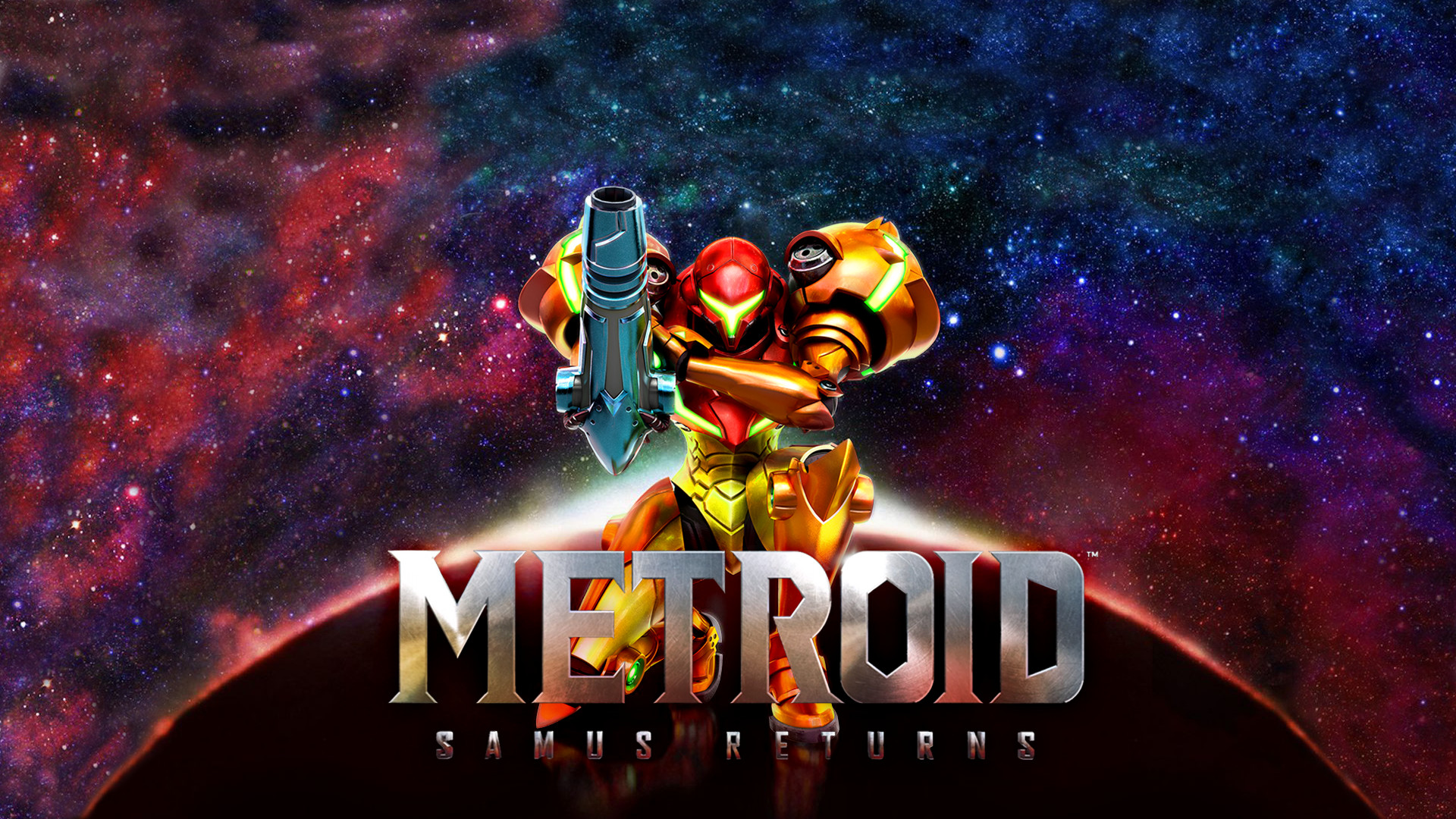 Did my best to expand the Samus Returns artwork into a 1080p wallpaper.  Enjoy!