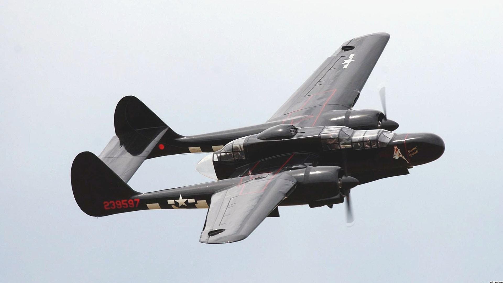 Military Aircraft Fighter World War Ii Warbird Black Widow 410148 1920 .