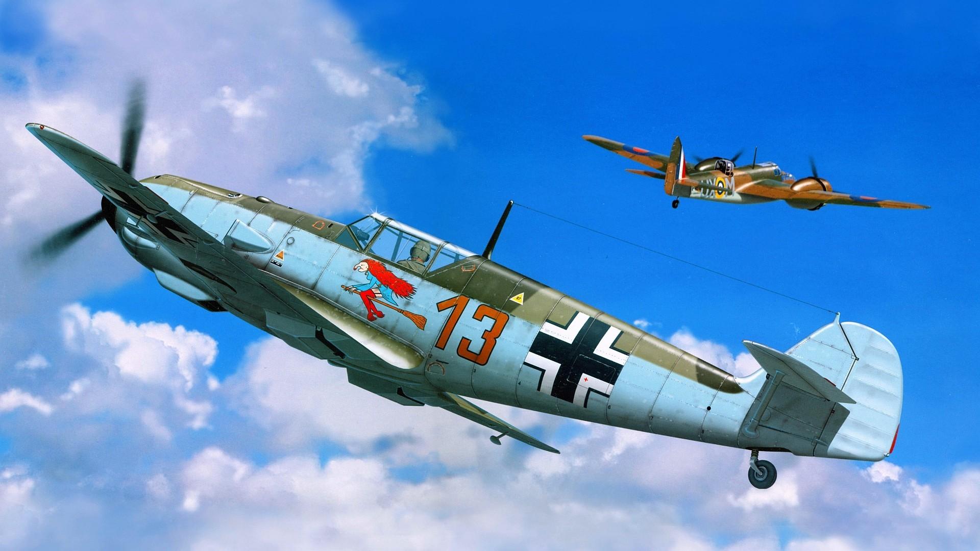 Messerschmitt, Messerschmitt Bf 109, Luftwaffe, Artwork, Military Aircraft, World  War II, Germany Wallpapers HD / Desktop and Mobile Backgrounds