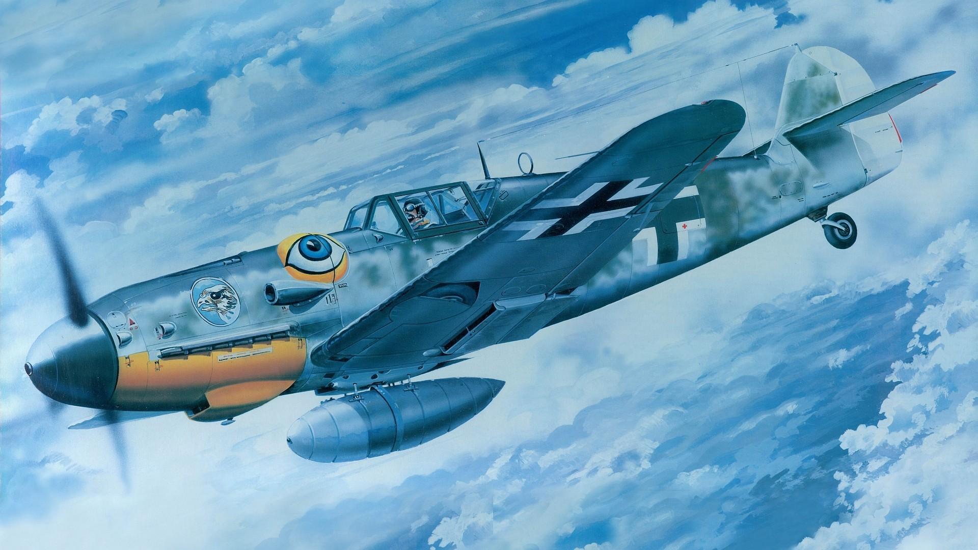 Messerschmitt, Messerschmitt Bf 109, Luftwaffe, Aircraft, Military,  Artwork, Military Aircraft, World War II, Germany Wallpapers HD / Desktop  and Mobile …