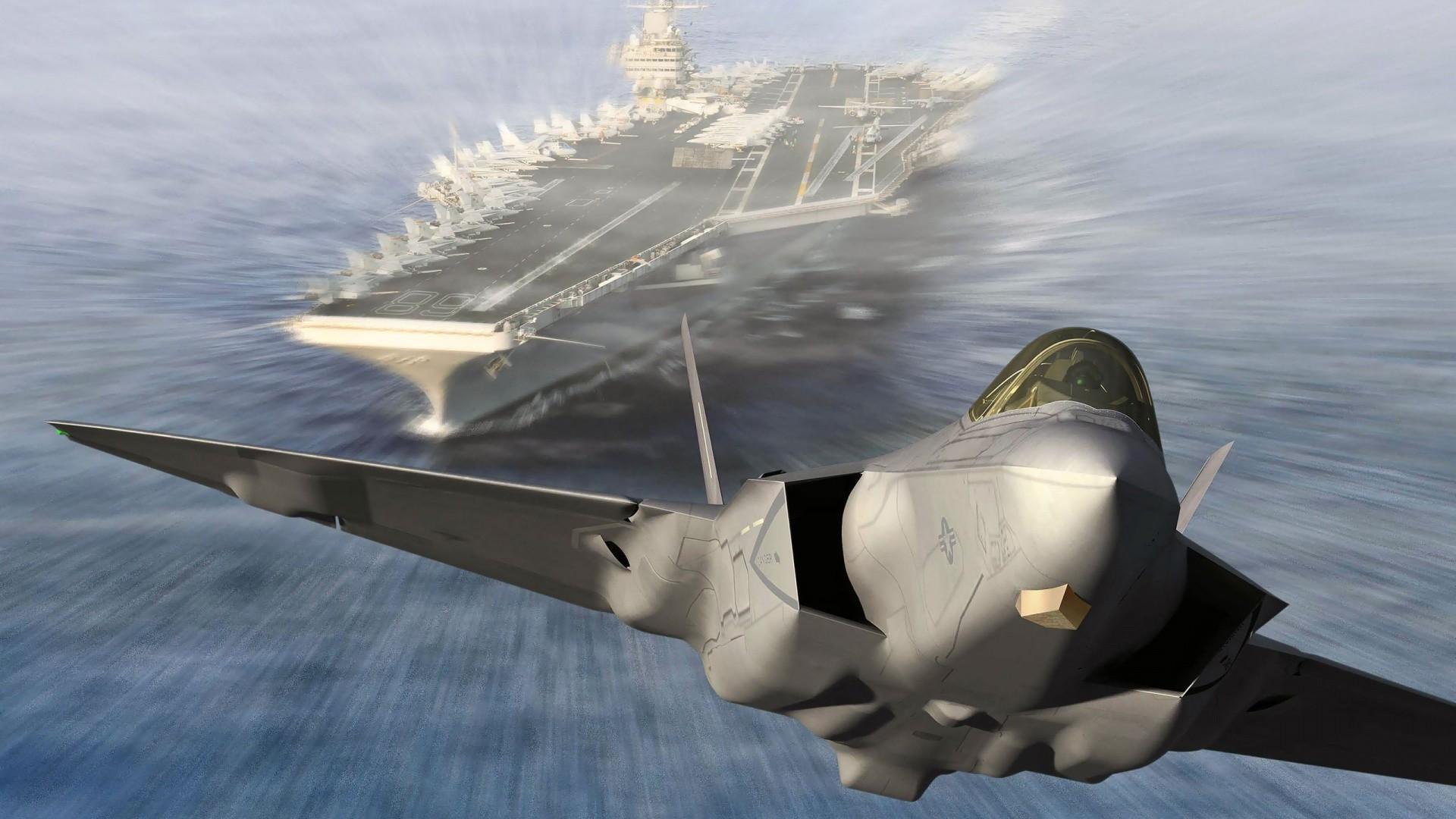 Aircraft Carrier Planes Wallpaper Widescreen 2