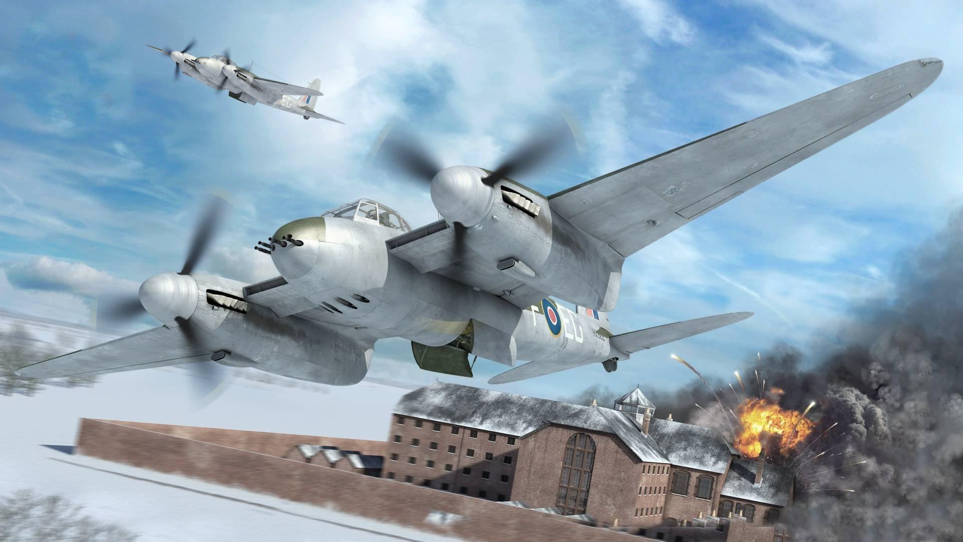 de havilland mosquito british multi-purpose bomber night fighter of world  war ii picture art