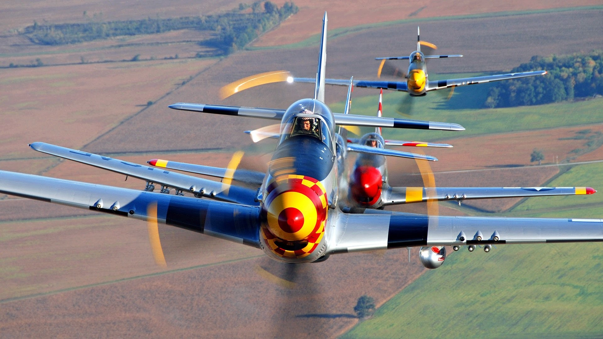 P-51 Mustang – In WW2, they were used to escort bombers in raids