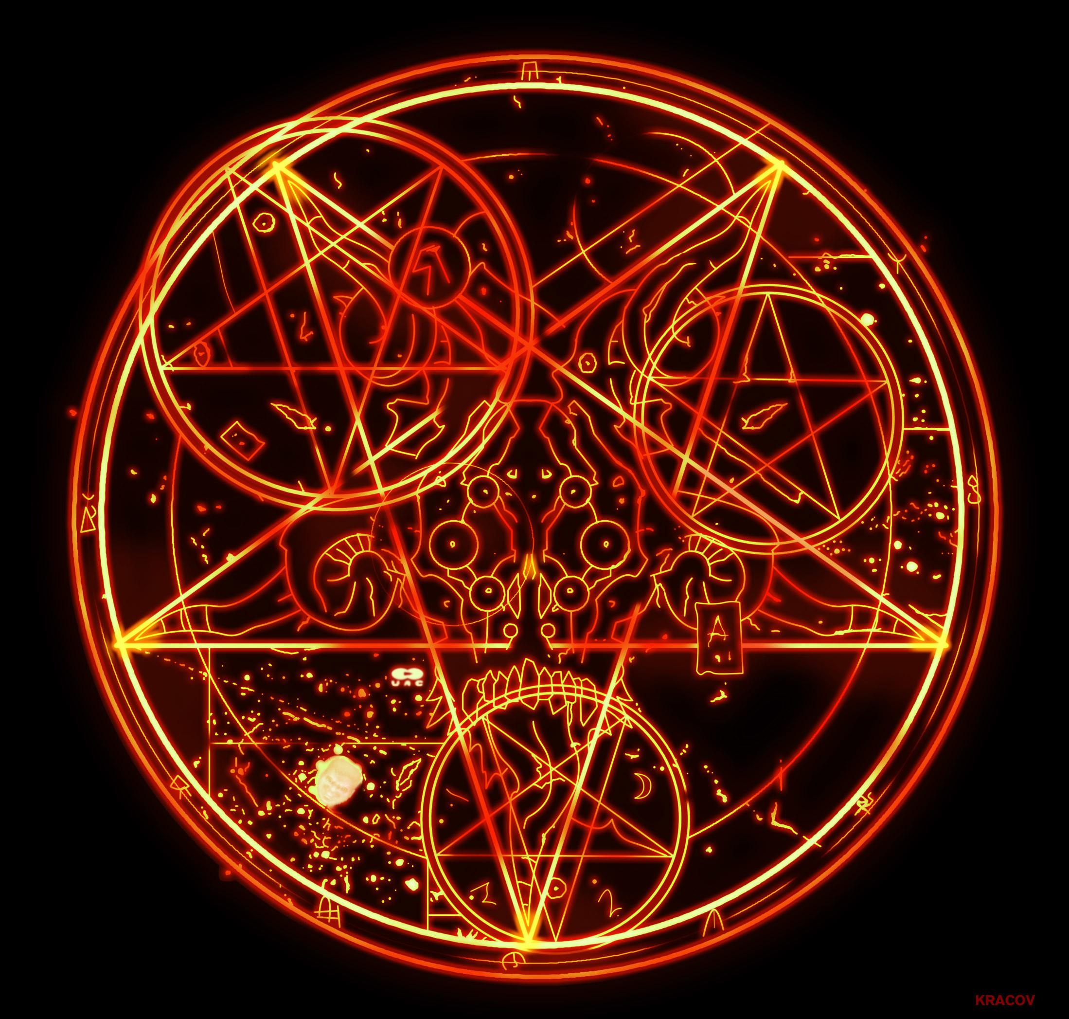 … Doom 3 Pentagram HD by Kracov