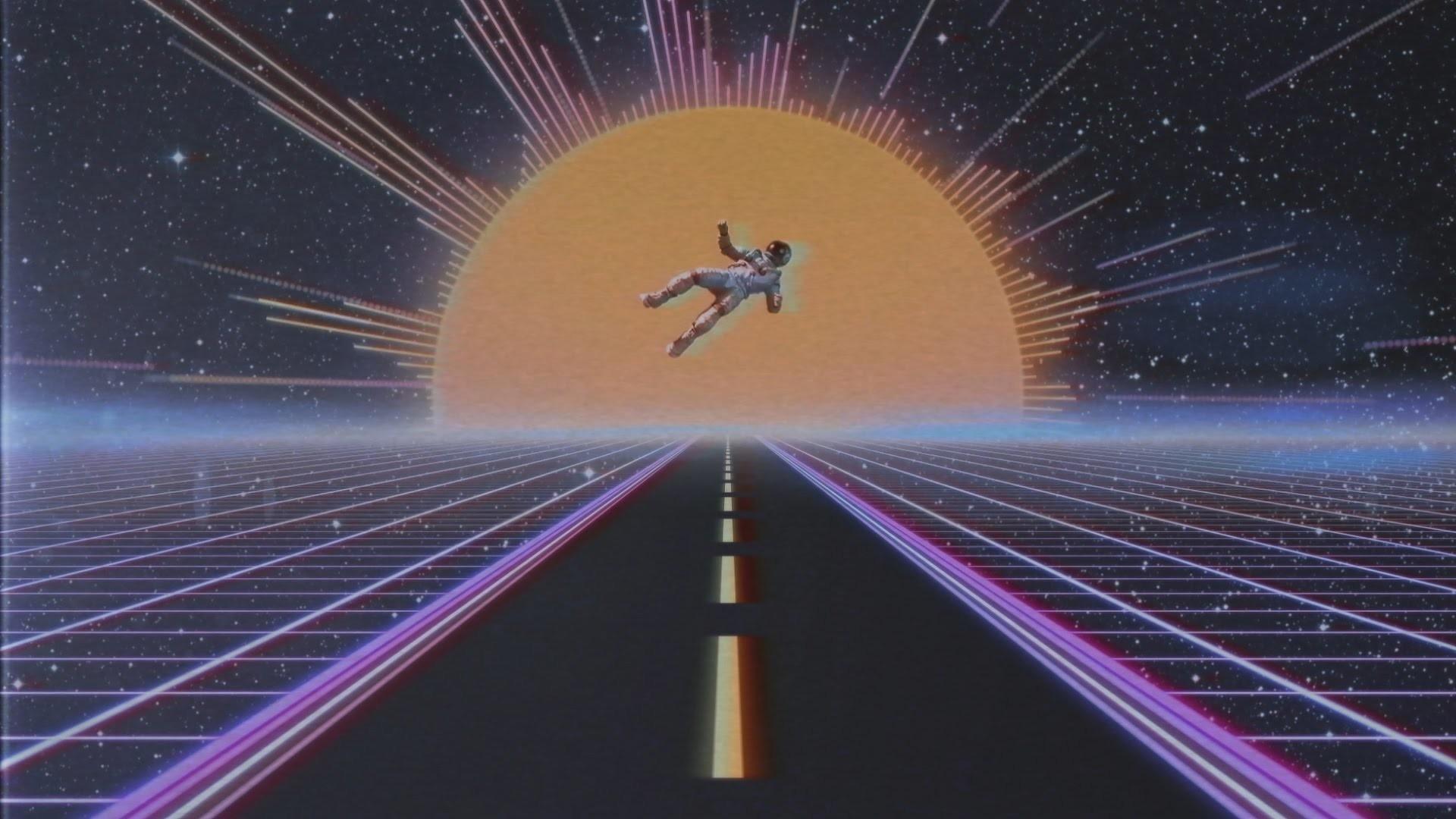 80's Style Neon Audio Spectrum