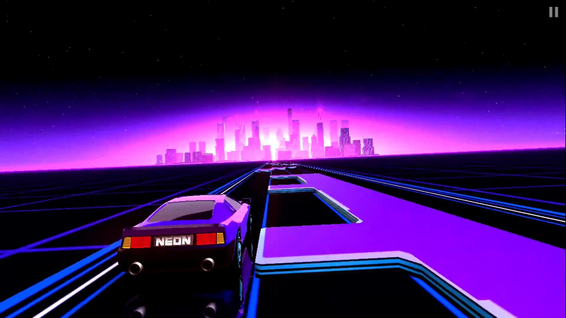 Neon Drive – '80s style arcade game – Gameplay iOS Обзор игры – YouTube