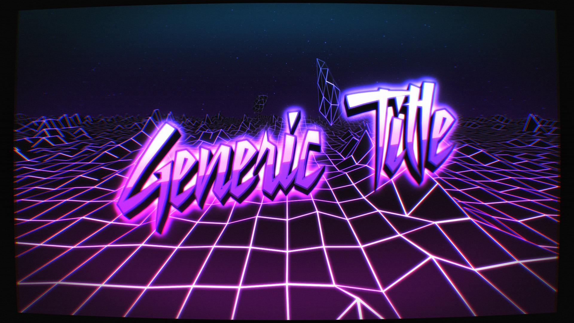 3D Render: 80's Neon Kitsch