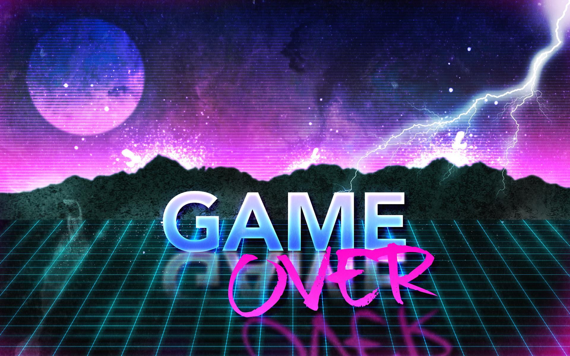 … 80s Retro Game Over Wallpaper by Leepiin