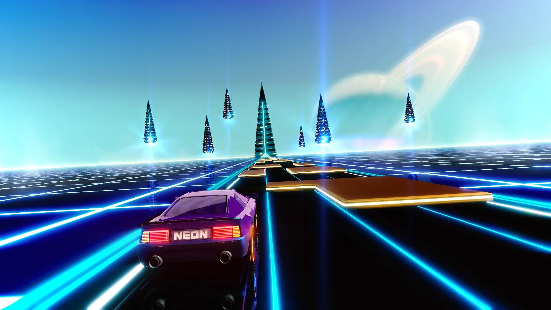 Go back to the '80s with Neon Drive