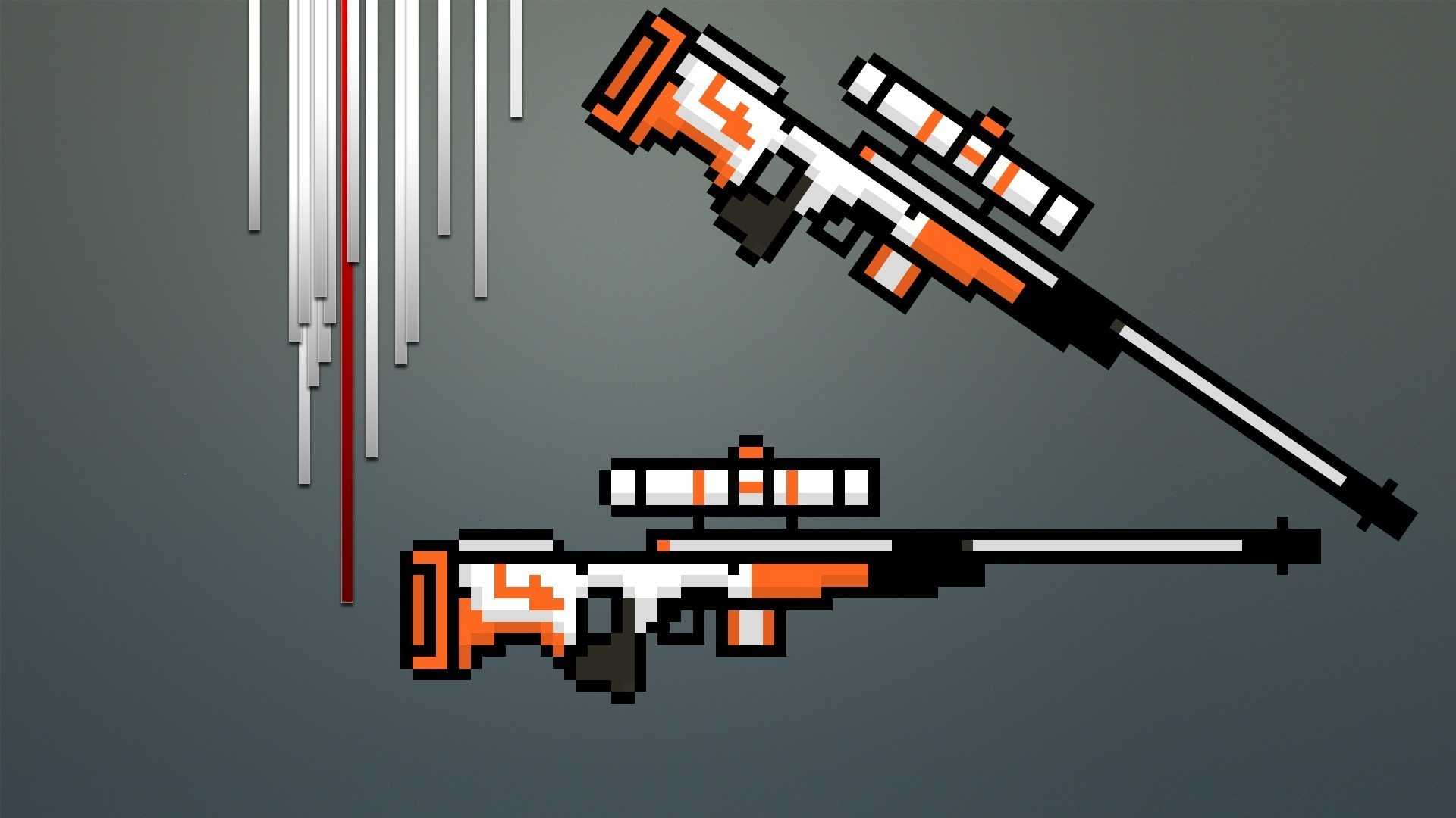 General snipers 8-bit Counter-Strike: Global Offensive Asiimov