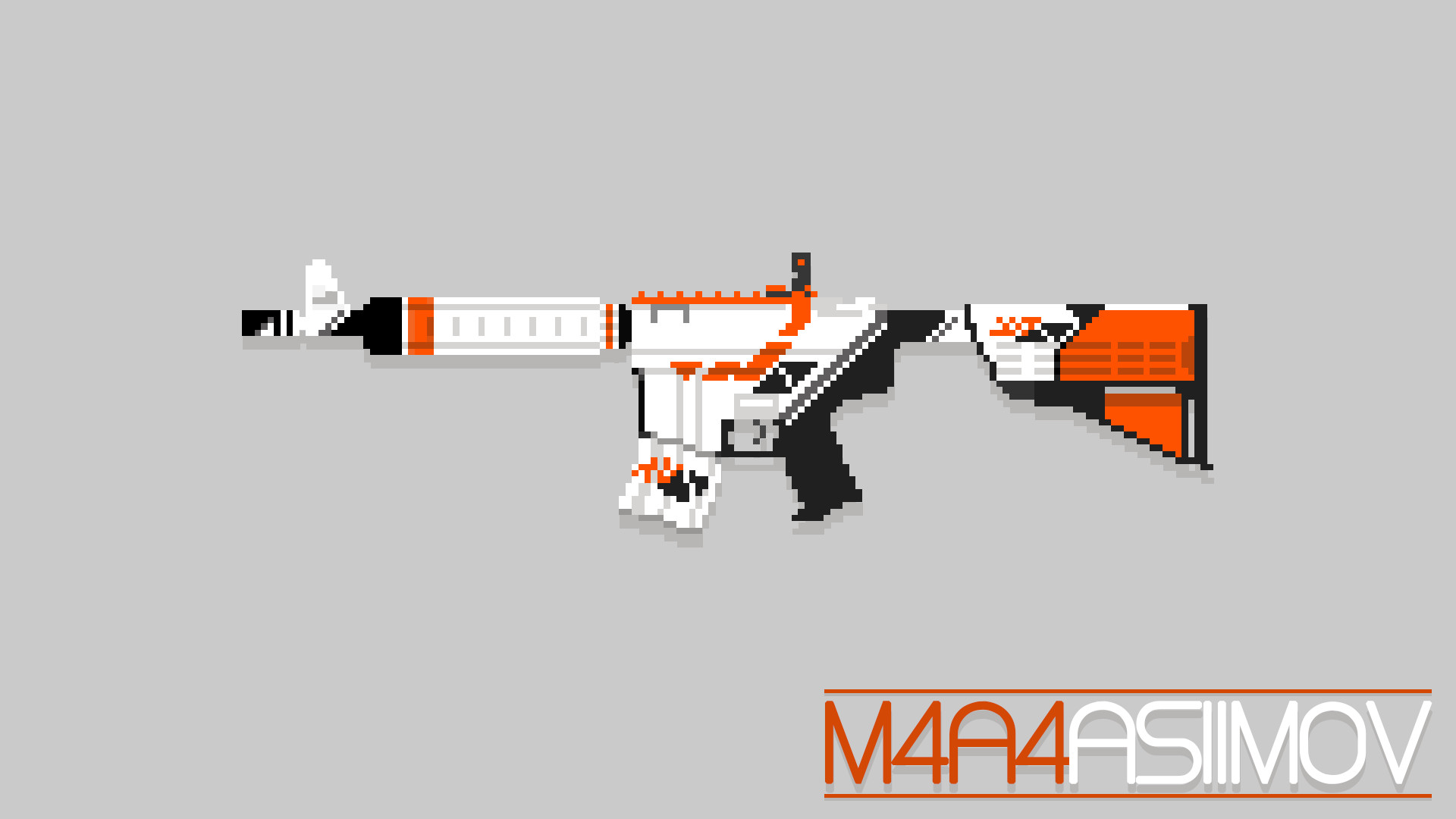 … M4A4 Asiimov – Pixel Art by stephenmdw