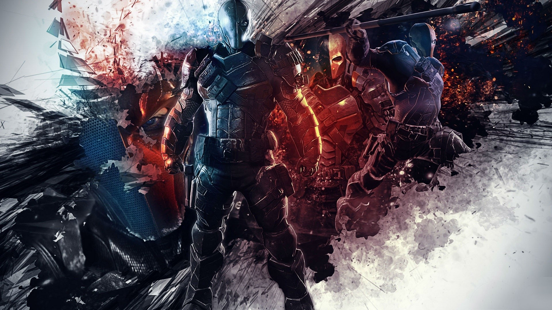 Batman Arkham Origins DeathStroke Wallpaper by TheSyanArt