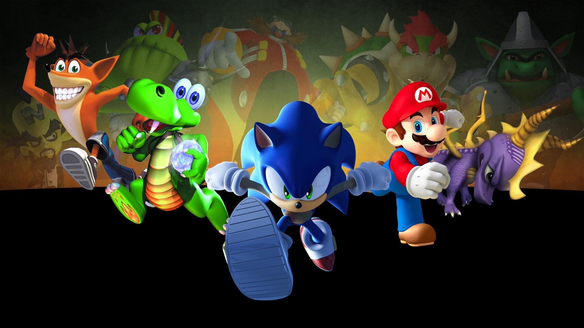 Mario Sonic Crash And Spyro wallpaper – 935952