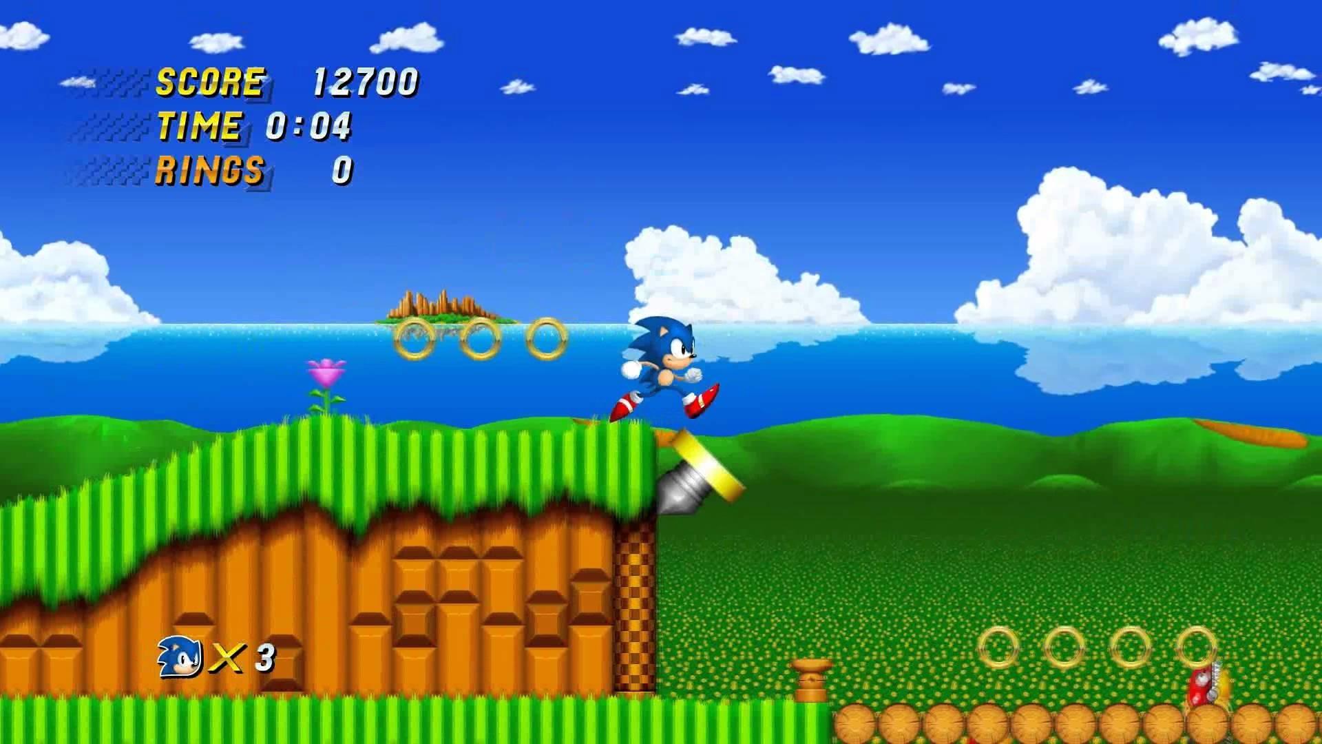 1080p | Sonic 2 HD Alpha Emerald Hill Zone