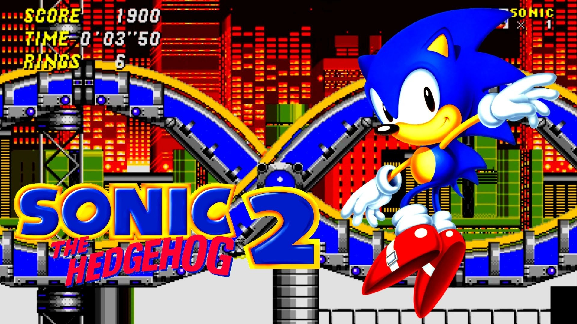 Sonic the Hedgehog 2 – Chemical Plant Zone Acts 1-2 [1080p HD, Widescreen]