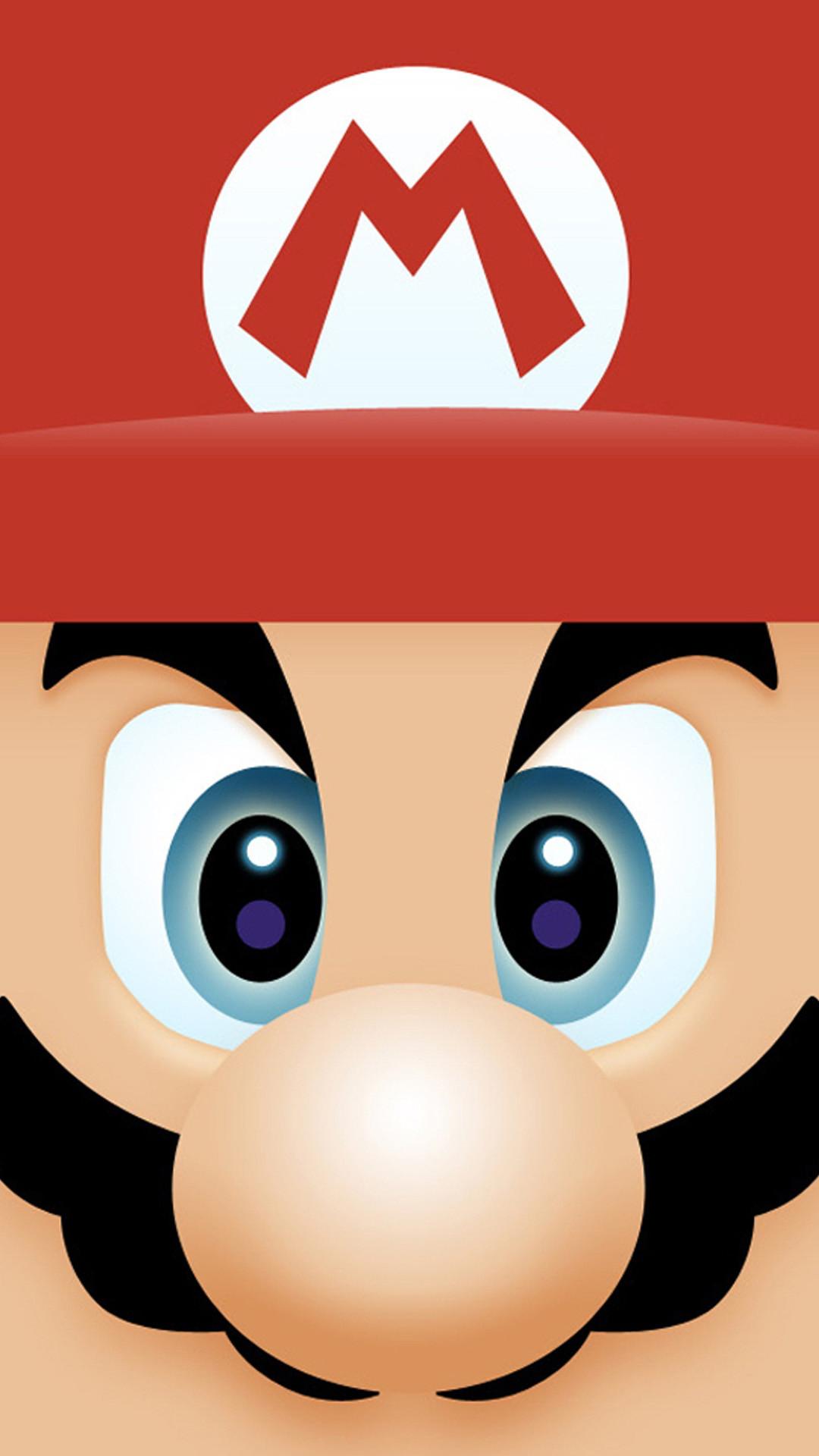 iPhone 6 plus Mario Face HD Wallpaper