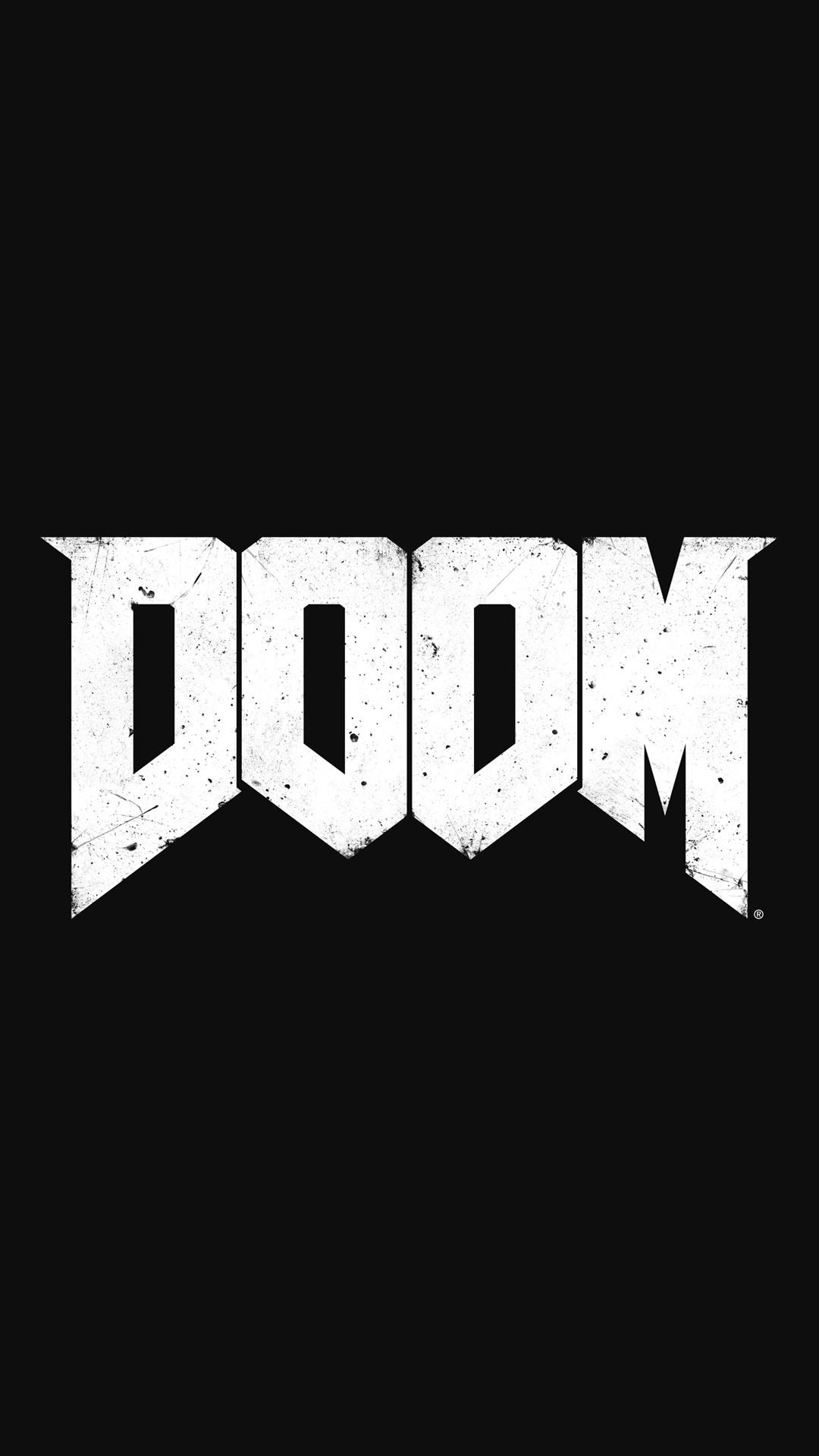 DOOM Game Logo iPhone 6+ HD Wallpaper